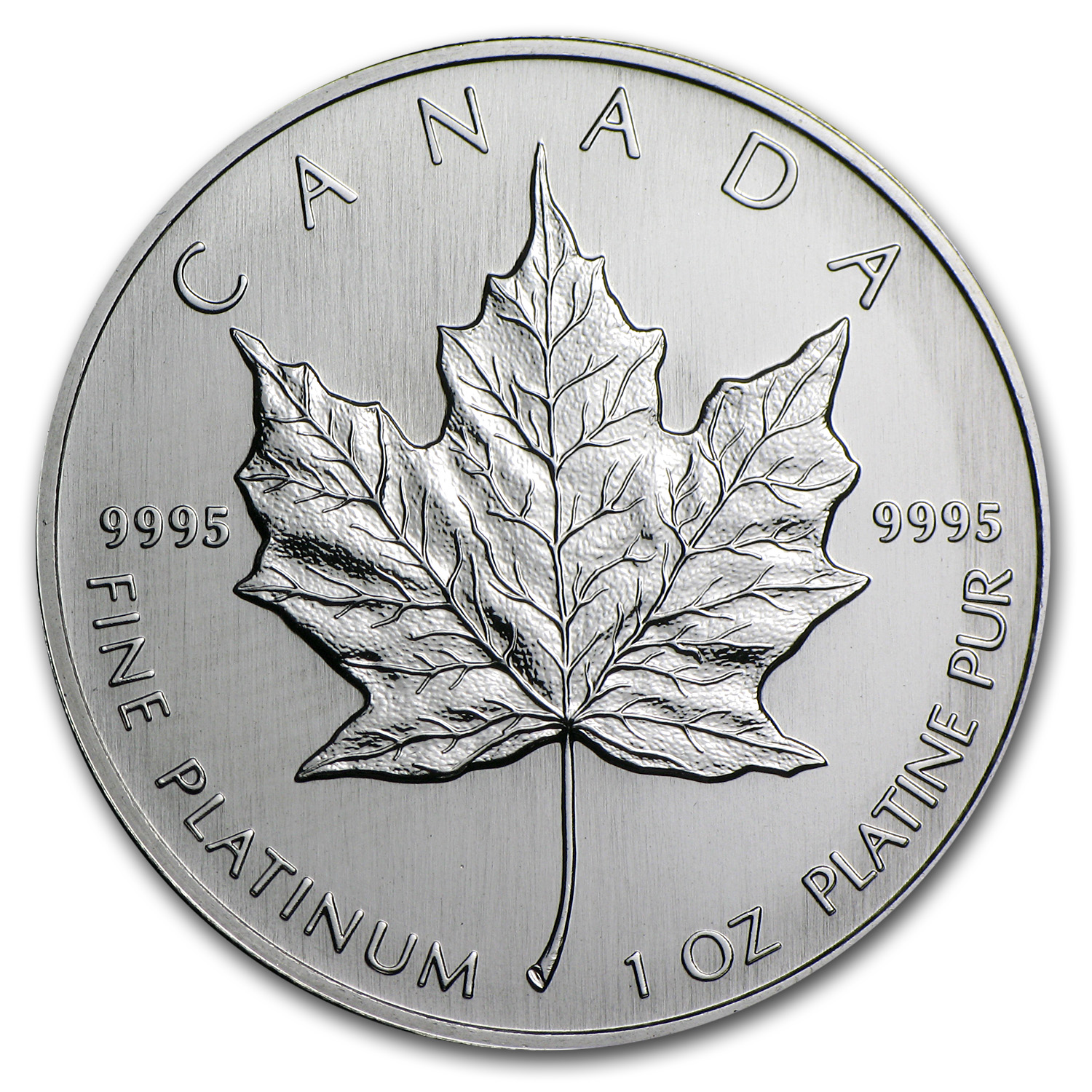 1994 1 oz Canadian Platinum Maple Leaf