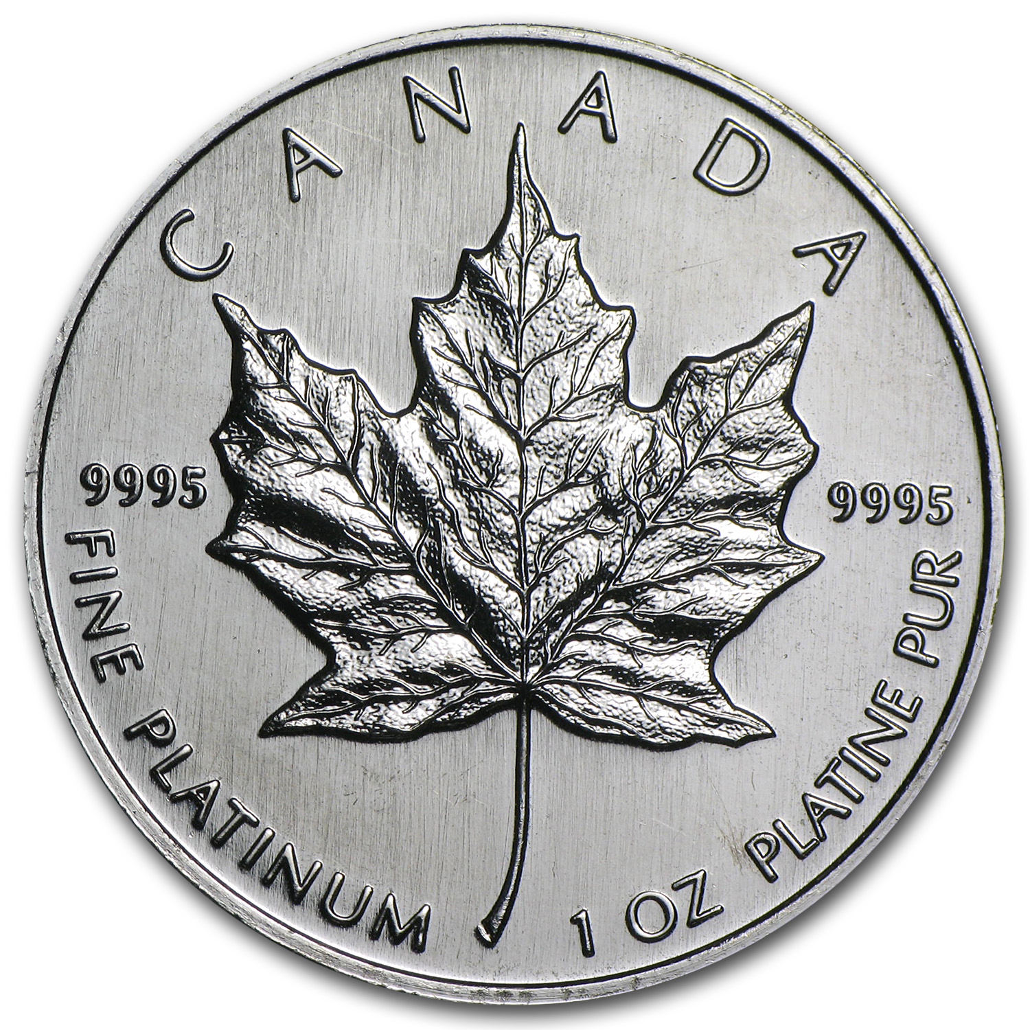 1995 1 oz Canadian Platinum Maple Leaf