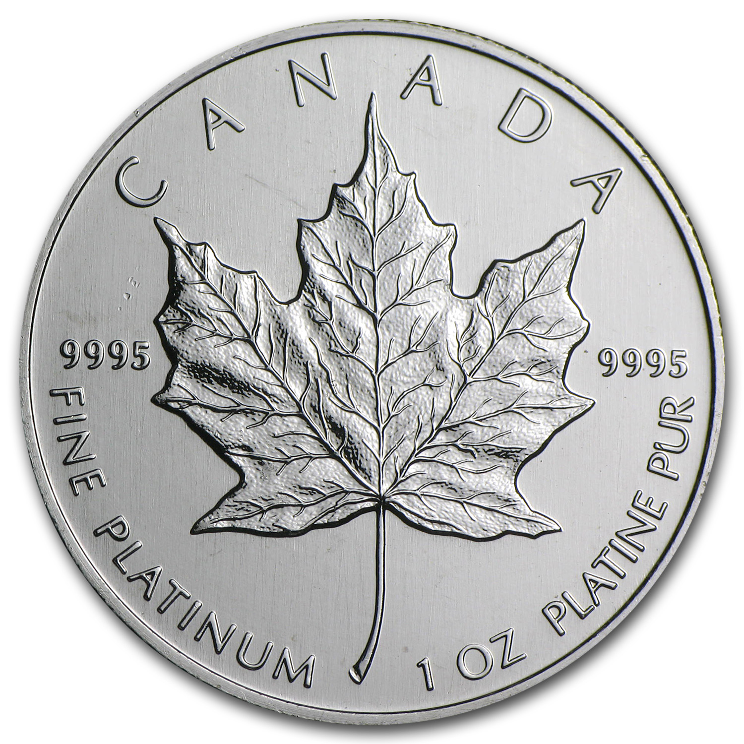 1988 Canada 1 oz Platinum Maple Leaf BU