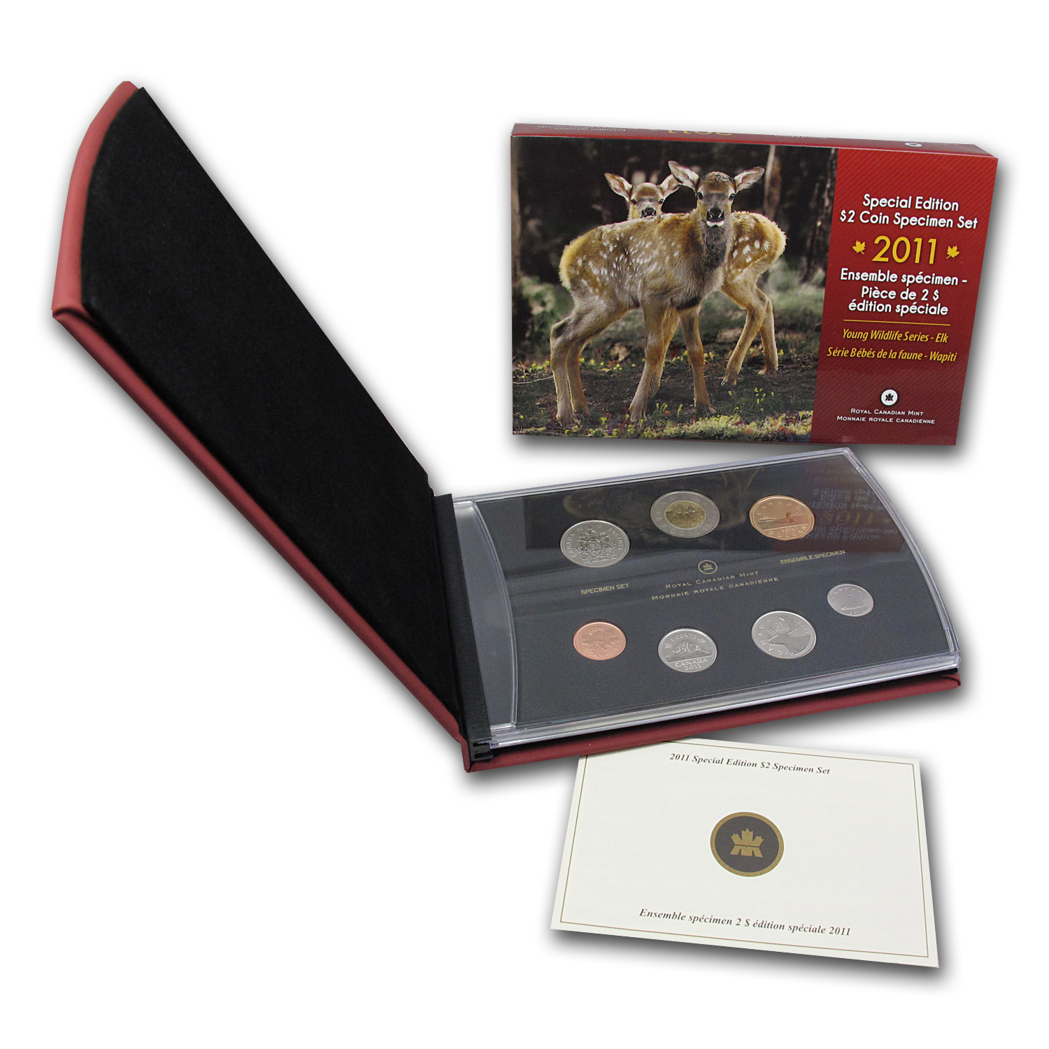 2011 Royal Canadian Mint Elk Calf Special Edition Specimen Set