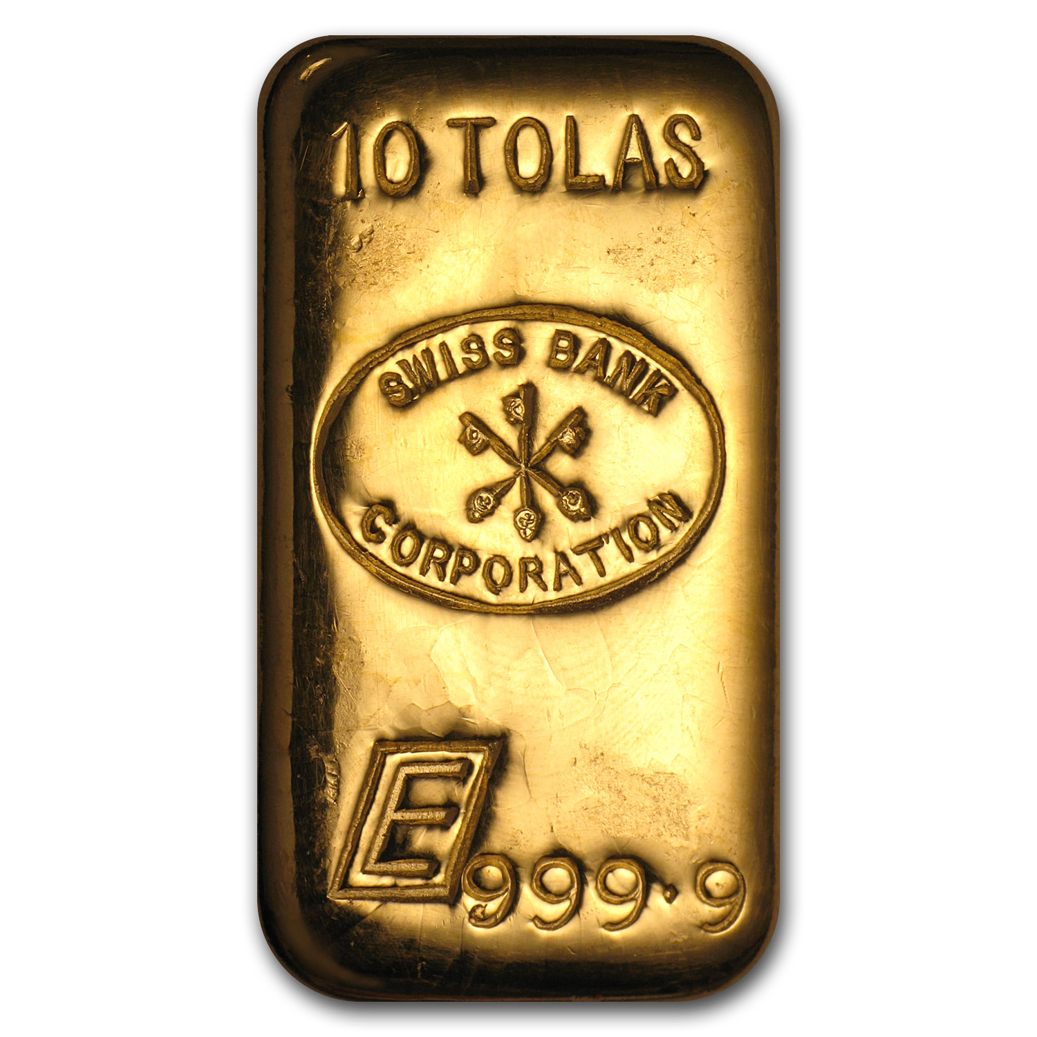 10 Tolas Gold Bar - Engelhard-Swiss Bank Corporation (3.75 oz)