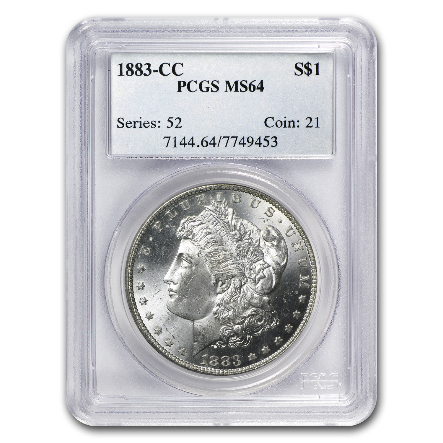 1883-CC Morgan Dollar MS-64 PCGS (Beautiful Toning)