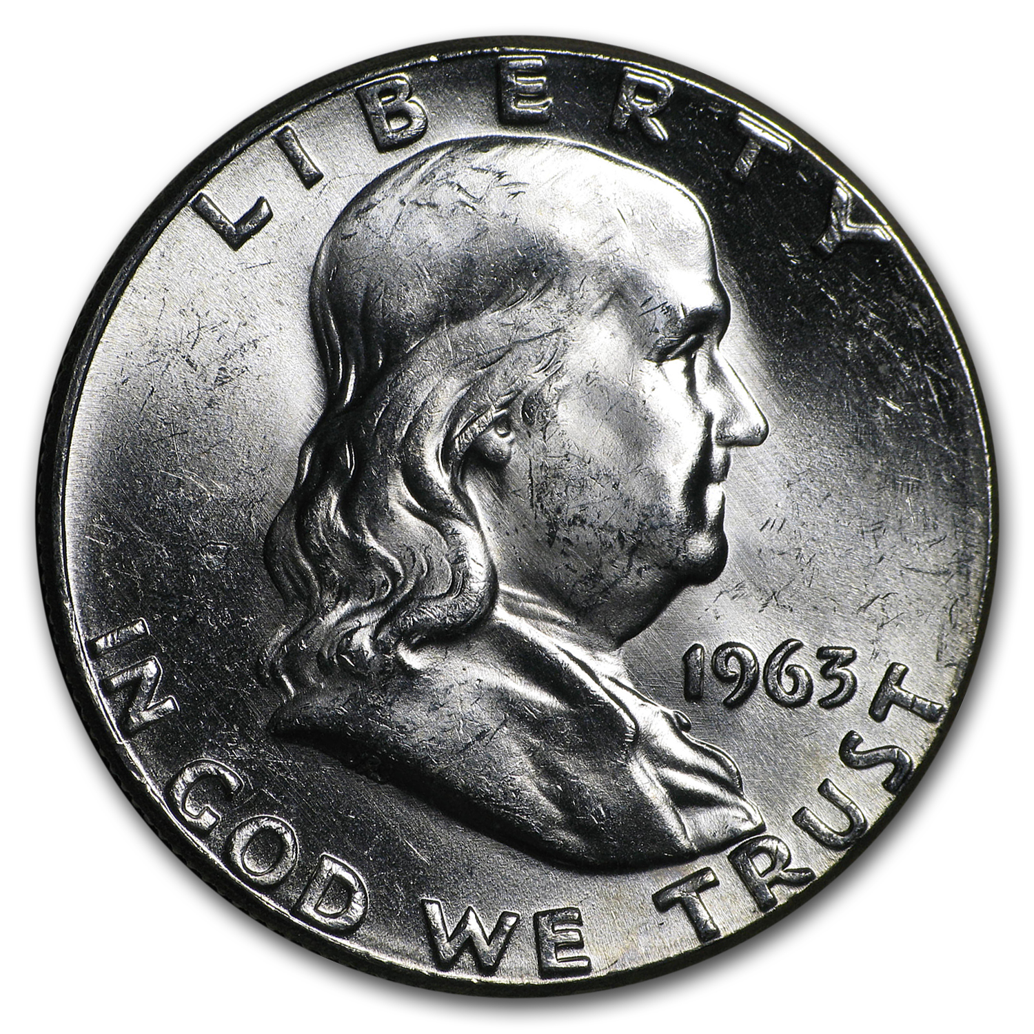 1963 Franklin Half Dollar BU