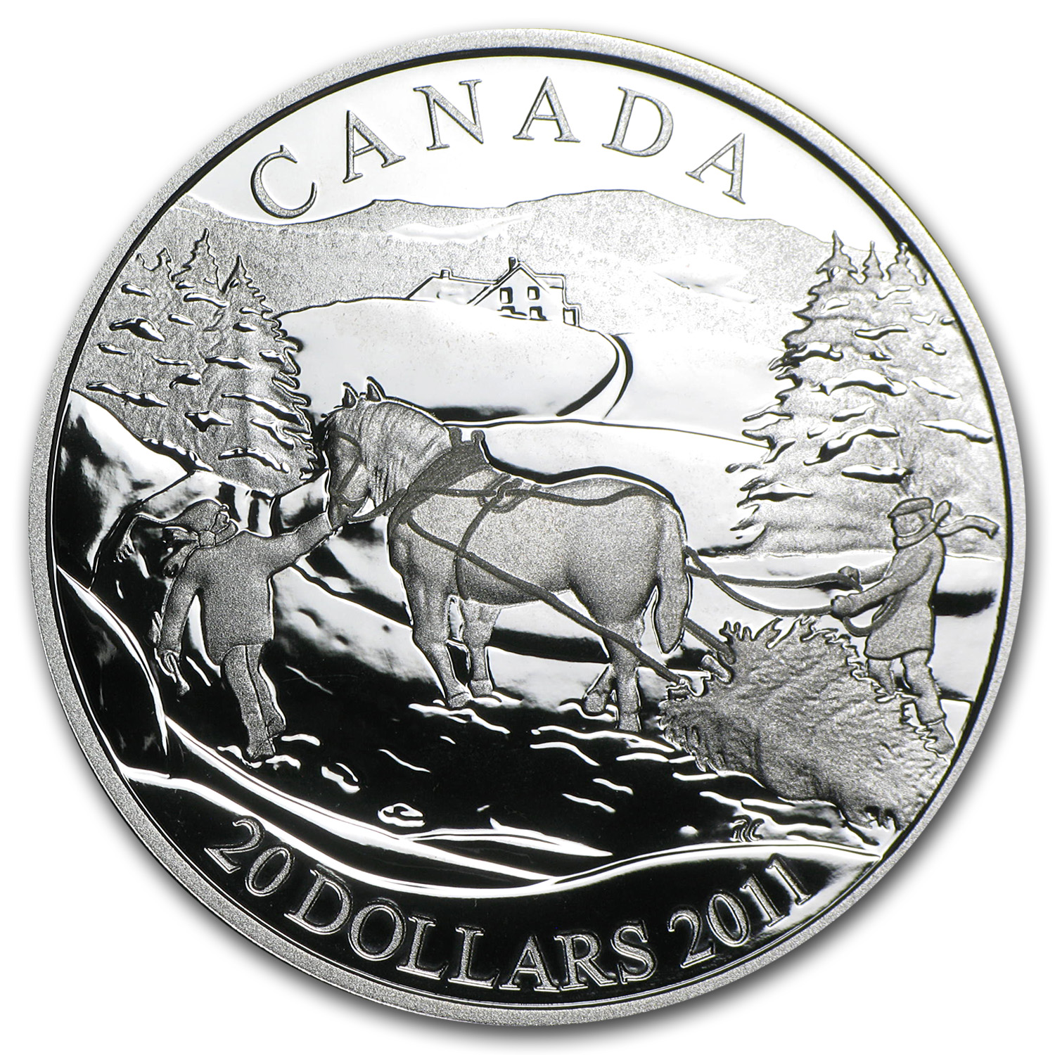 2011 Proof Silver Canadian $20 Winter Scene (W/Box & COA)