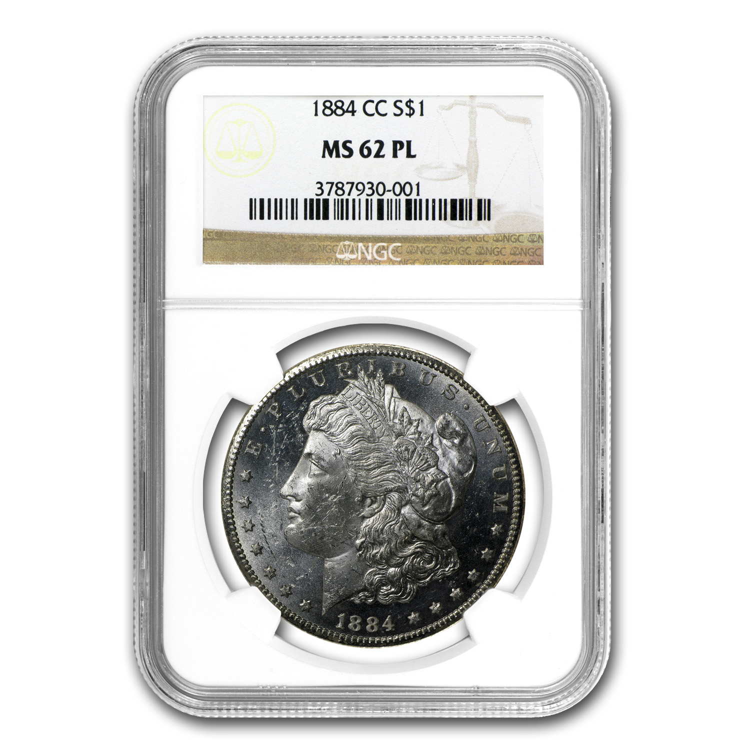 1884-CC Morgan Dollar - MS-62 PL Proof Like NGC