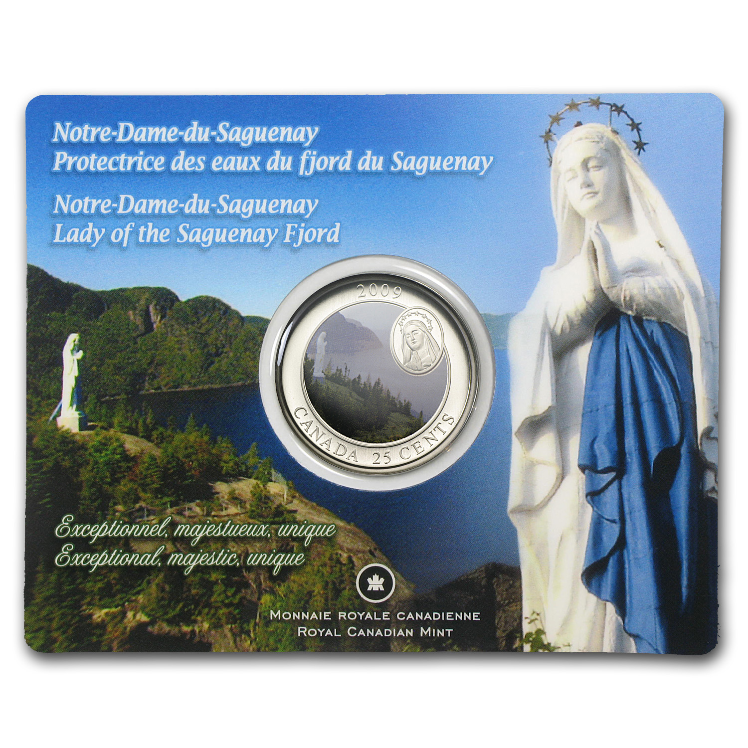 2009 Canadian $0.25 Notre-Dame-Du-Saguenay (Coloured)