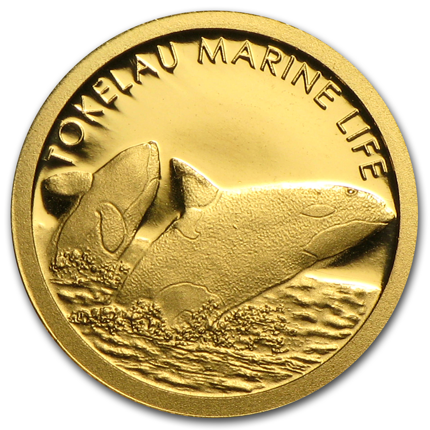 2013 Tokelau 1/2 gm Gold $5 Orca Whale Coin