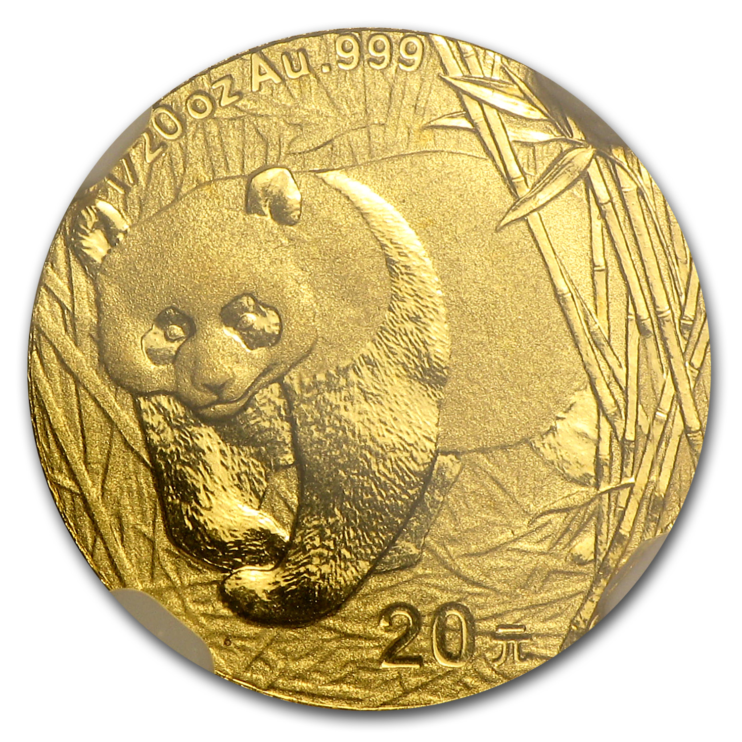 2001 (1/20 oz) Gold Chinese Pandas - MS-69 NGC