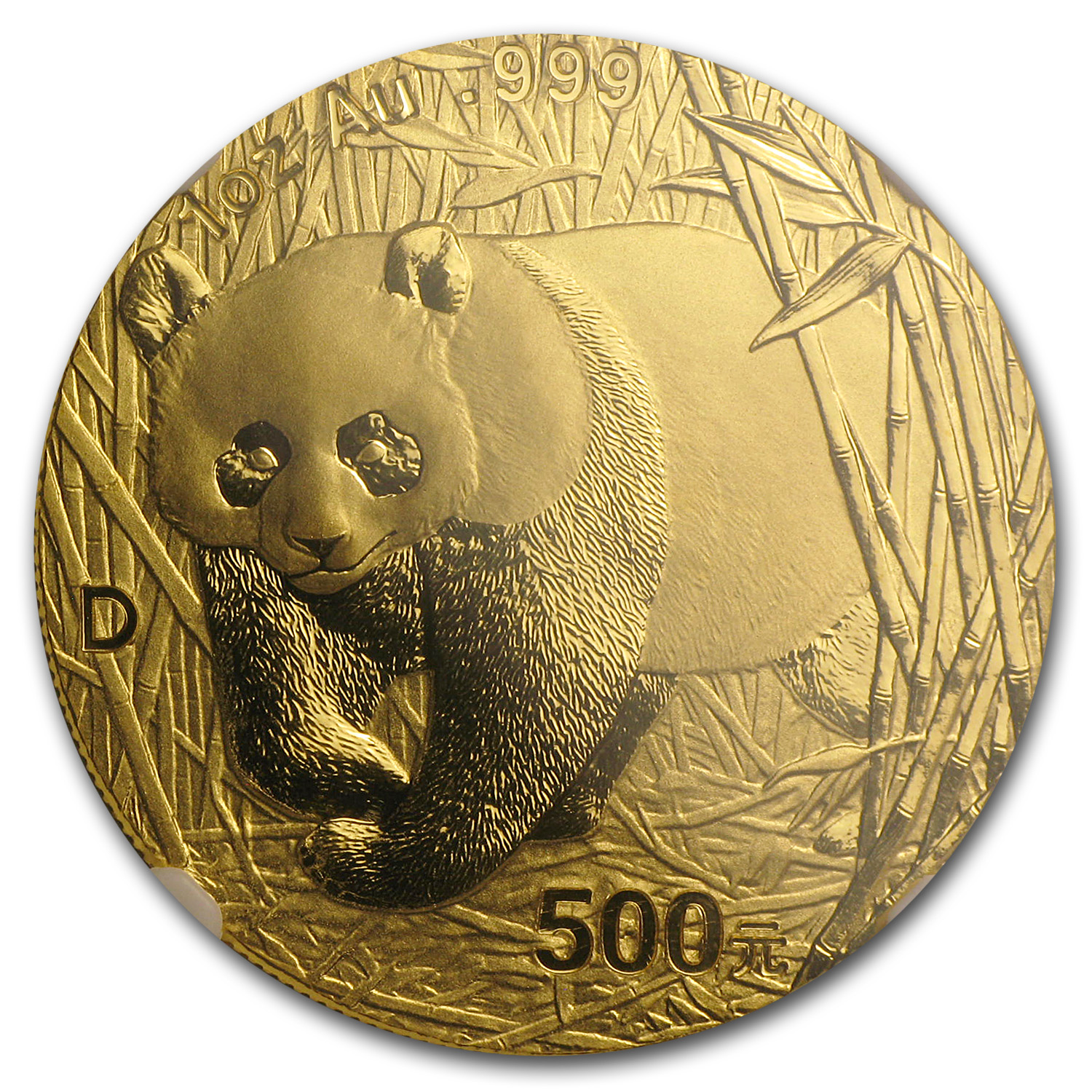 2001-D 1 oz Gold Chinese Panda MS-69 NGC