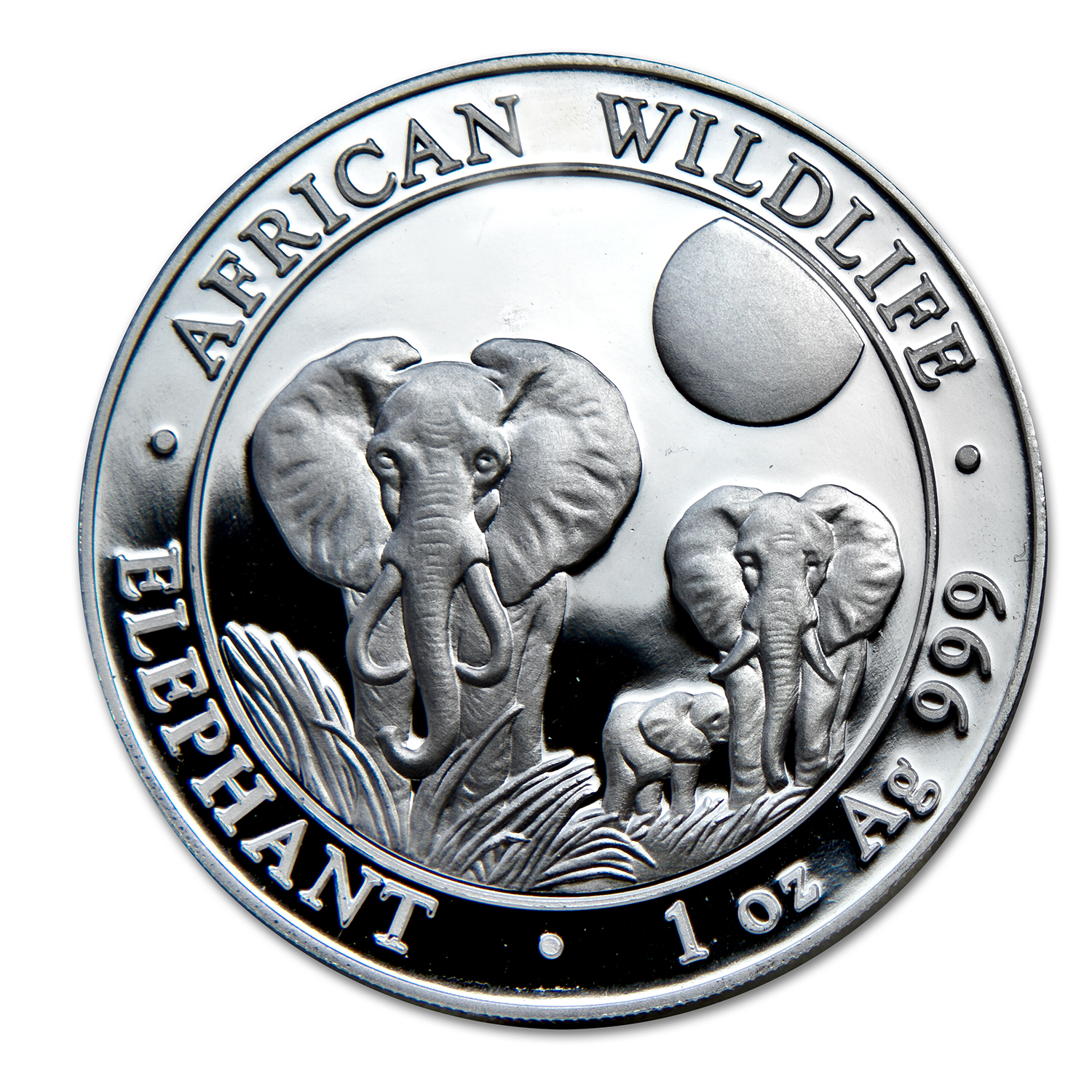 2014 Somalia 500-Coin 1 oz Silver Elephant (Sealed Box)