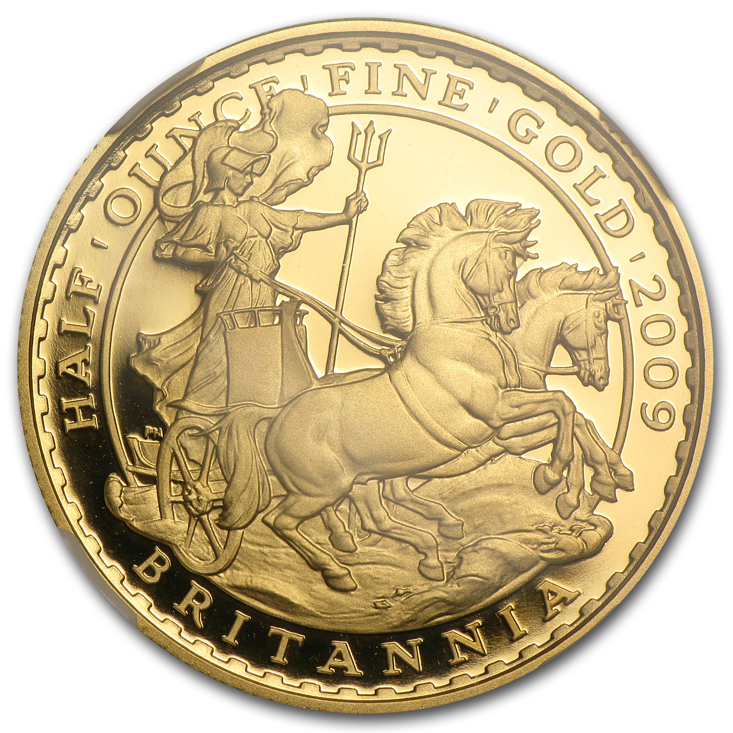 2009 Great Britain 1/2 oz Proof Gold Britannia PF-70 NGC