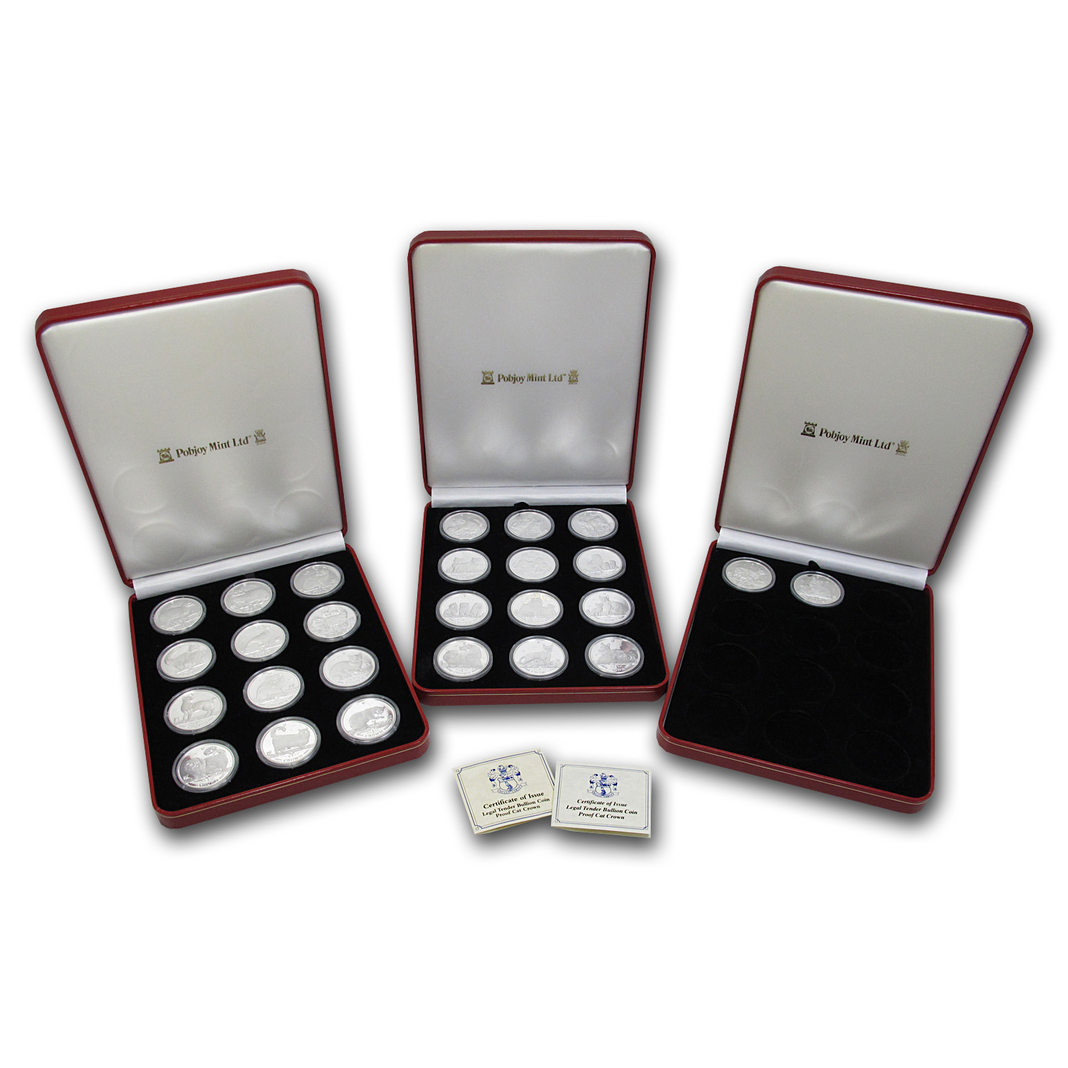 1988-2013 Isle of Man 26-Coin 1 oz Silver Cat Proof Set