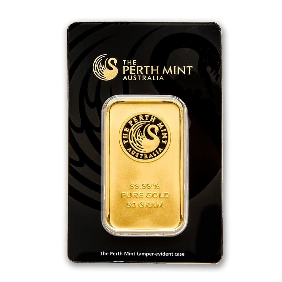 50 Gram Gold Bar Perth Mint In Assay Perth Mint