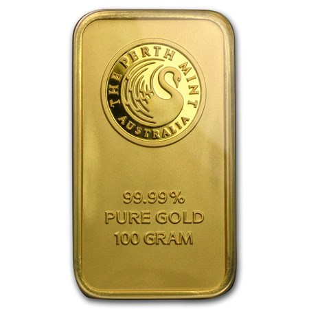 100 Gram Perth Mint Gold Bar For Sale Perth Mint Gold