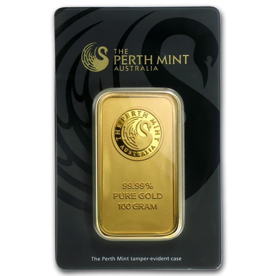 100 gram Gold Bar - Perth Mint (In Assay)