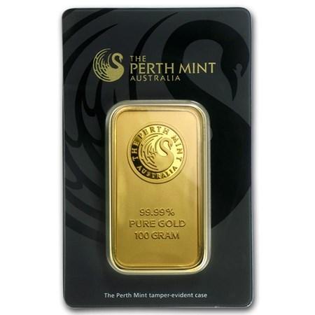 100 Gram Perth Mint Gold Bar For Sale Perth Mint Gold