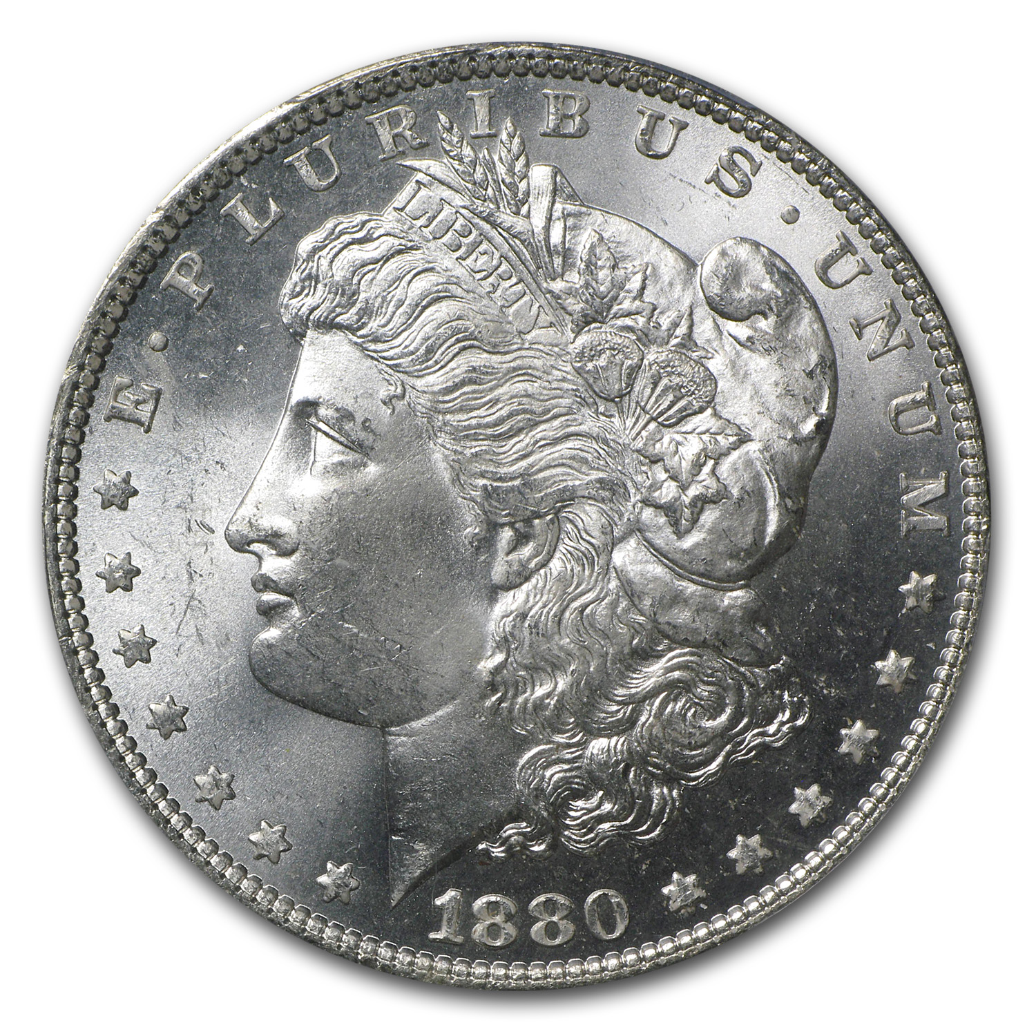 1880 Morgan Dollar - MS-64+ Plus PCGS - CAC
