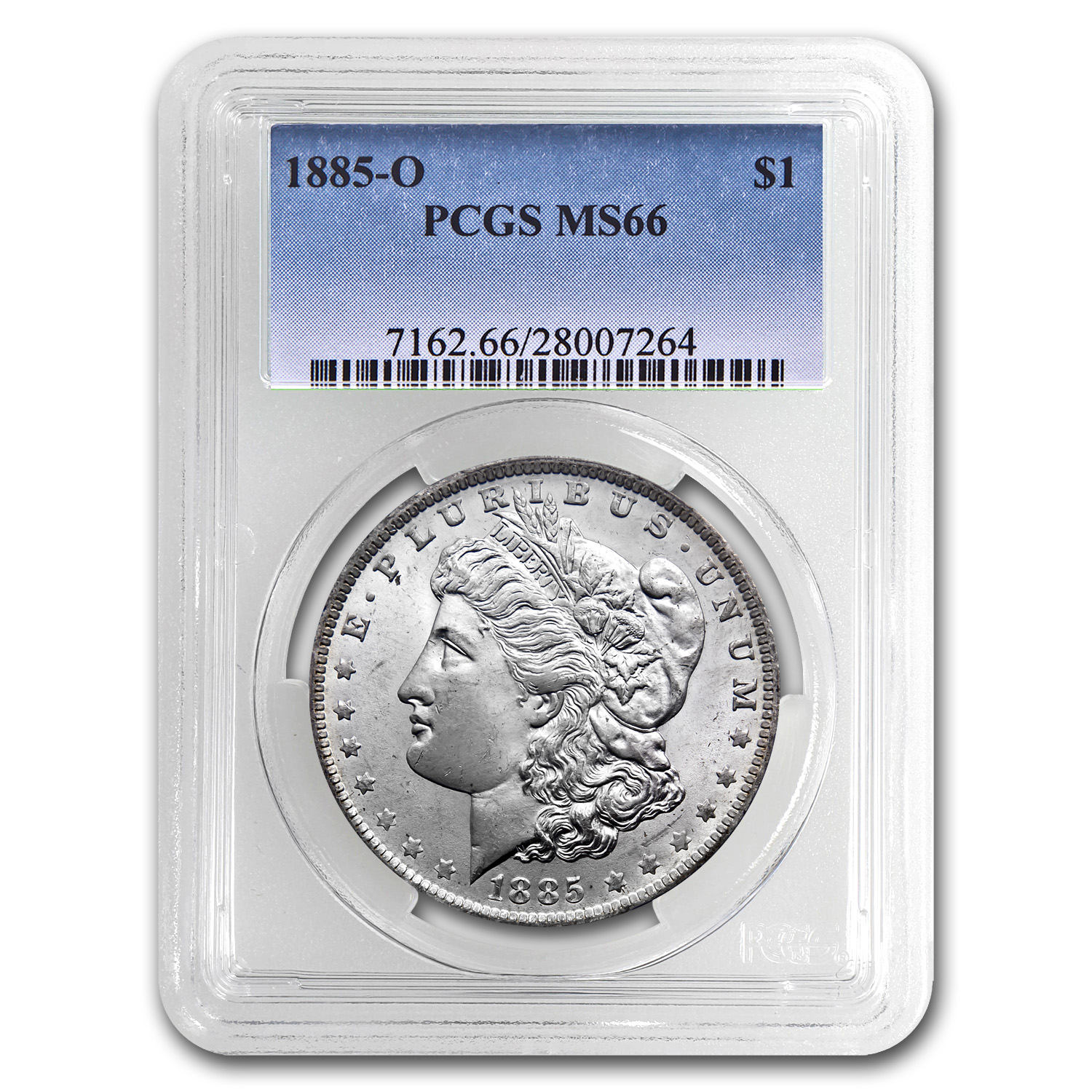 1885-O Morgan Dollar MS-66 PCGS (Beautiful Toned Rev)
