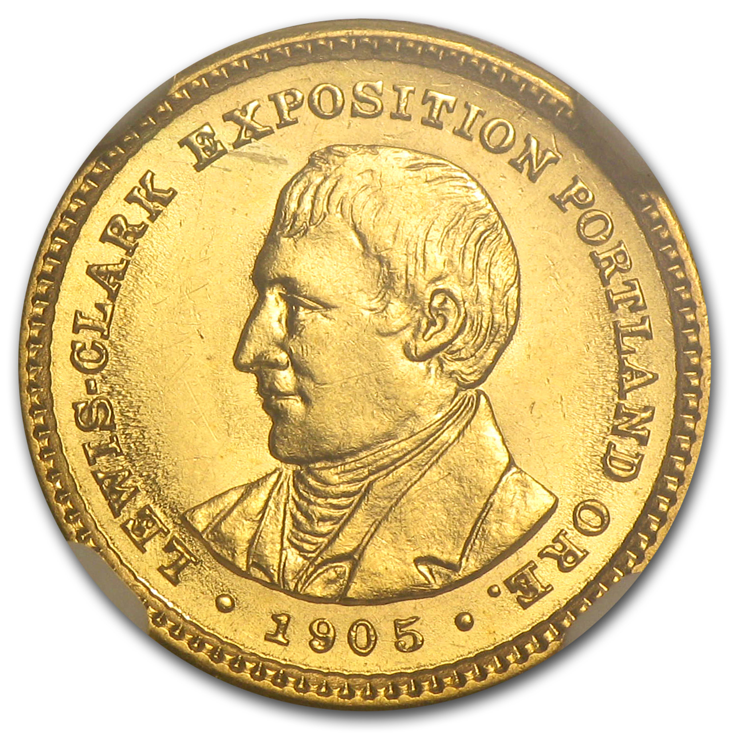 1905 Gold $1.00 Lewis & Clark MS-61 NGC