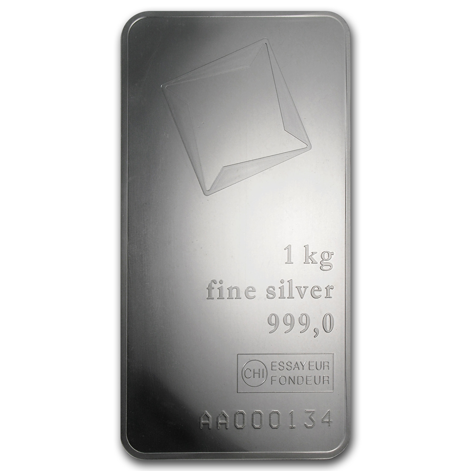 1 kilo Silver Bar - Valcambi (w/Assay)