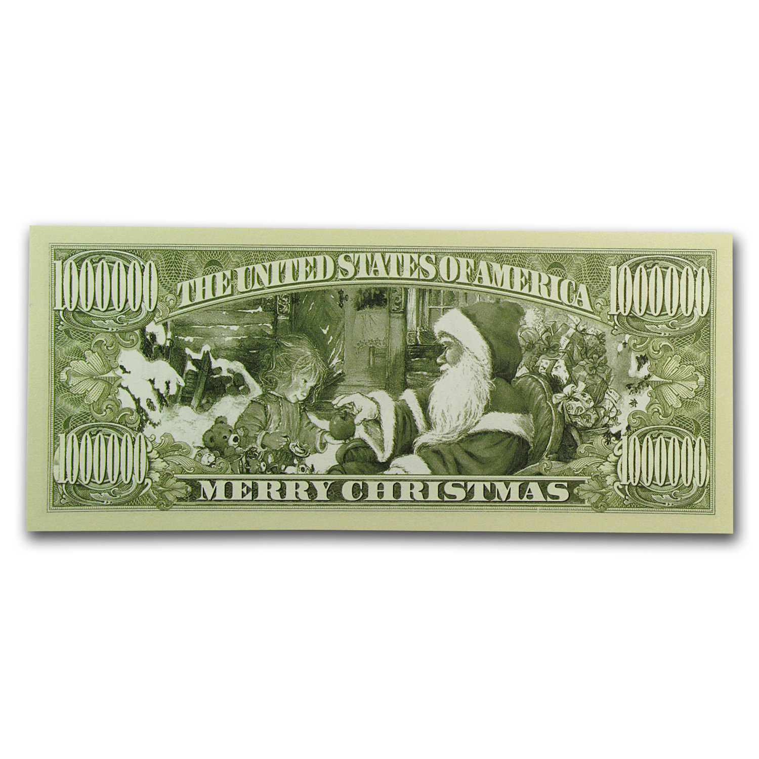 Novelty $1,000,000 Bills - Santa (10 ct)