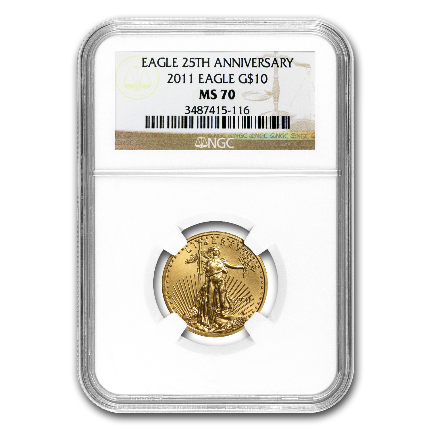 1/4 oz Gold American Eagle MS-70 NGC (Random Year)