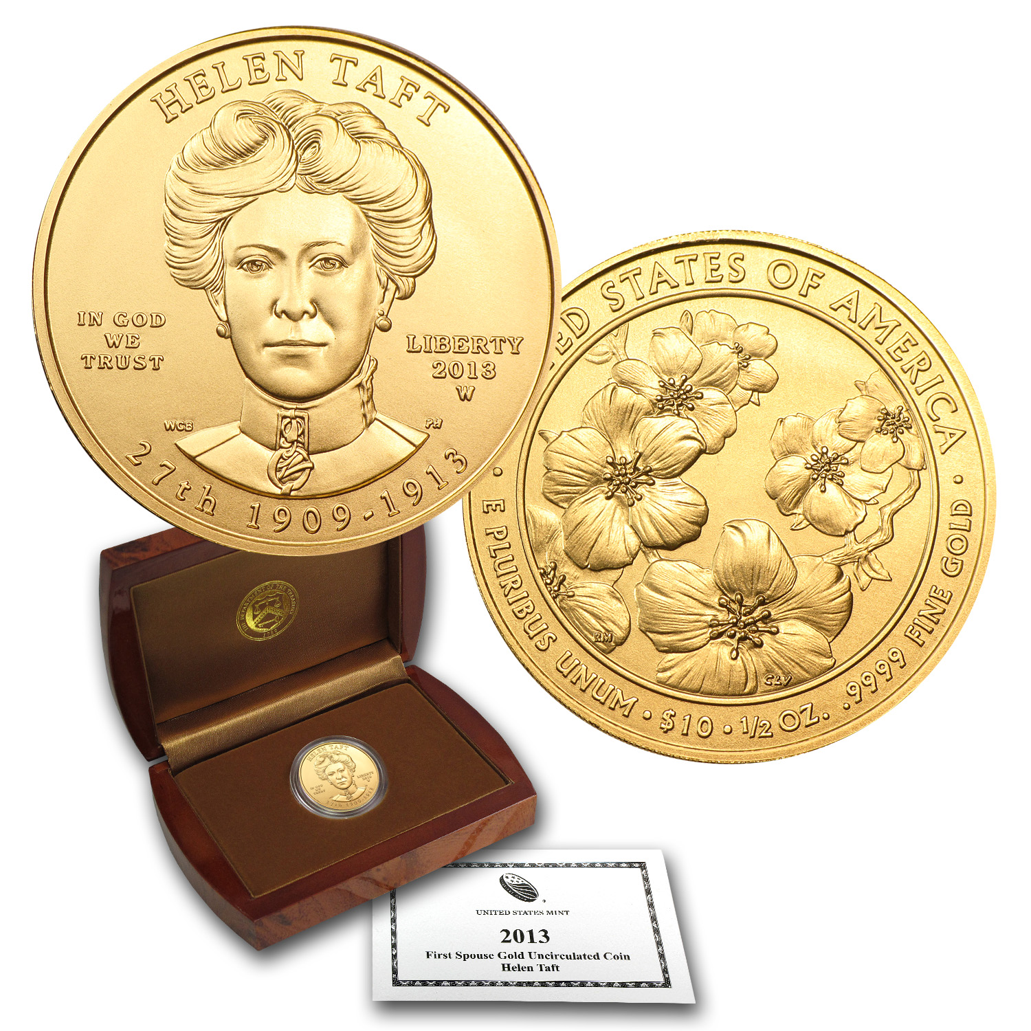 2013-W 1/2 oz Uncirculated Gold Helen Taft (w/Box & CoA)