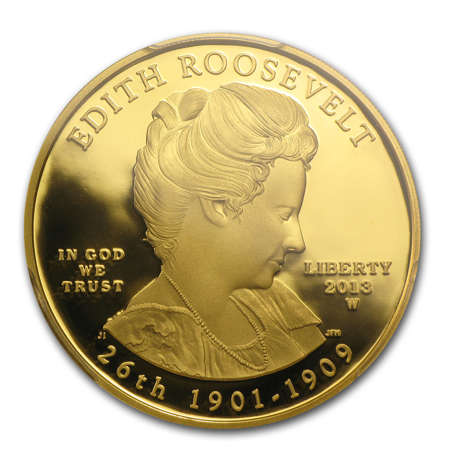 2013-W 1/2 oz Proof Gold Edith Roosevelt PR-70 PCGS (FS)