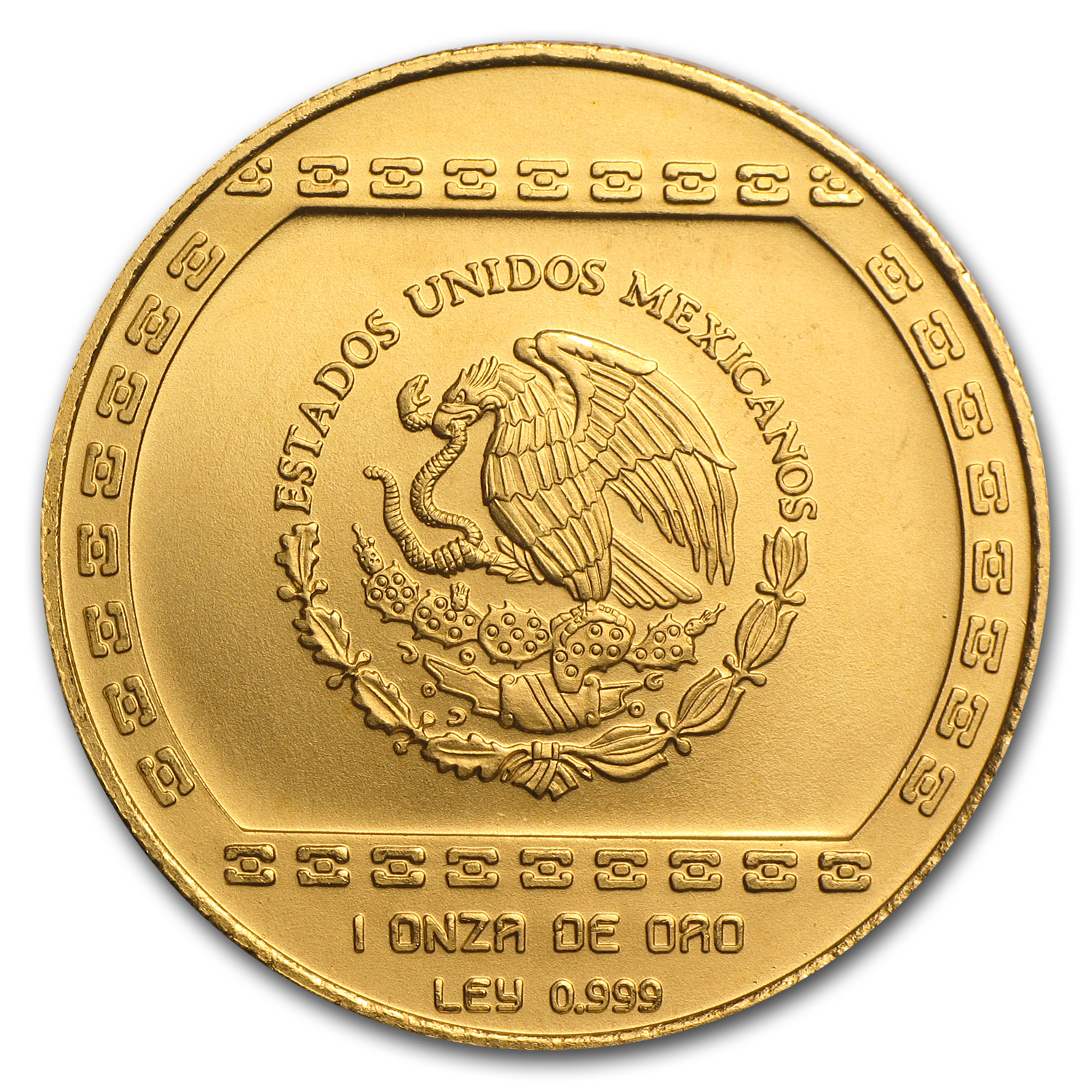 1993 Mexico Gold 100 Pesos Hacha Ceremonial BU