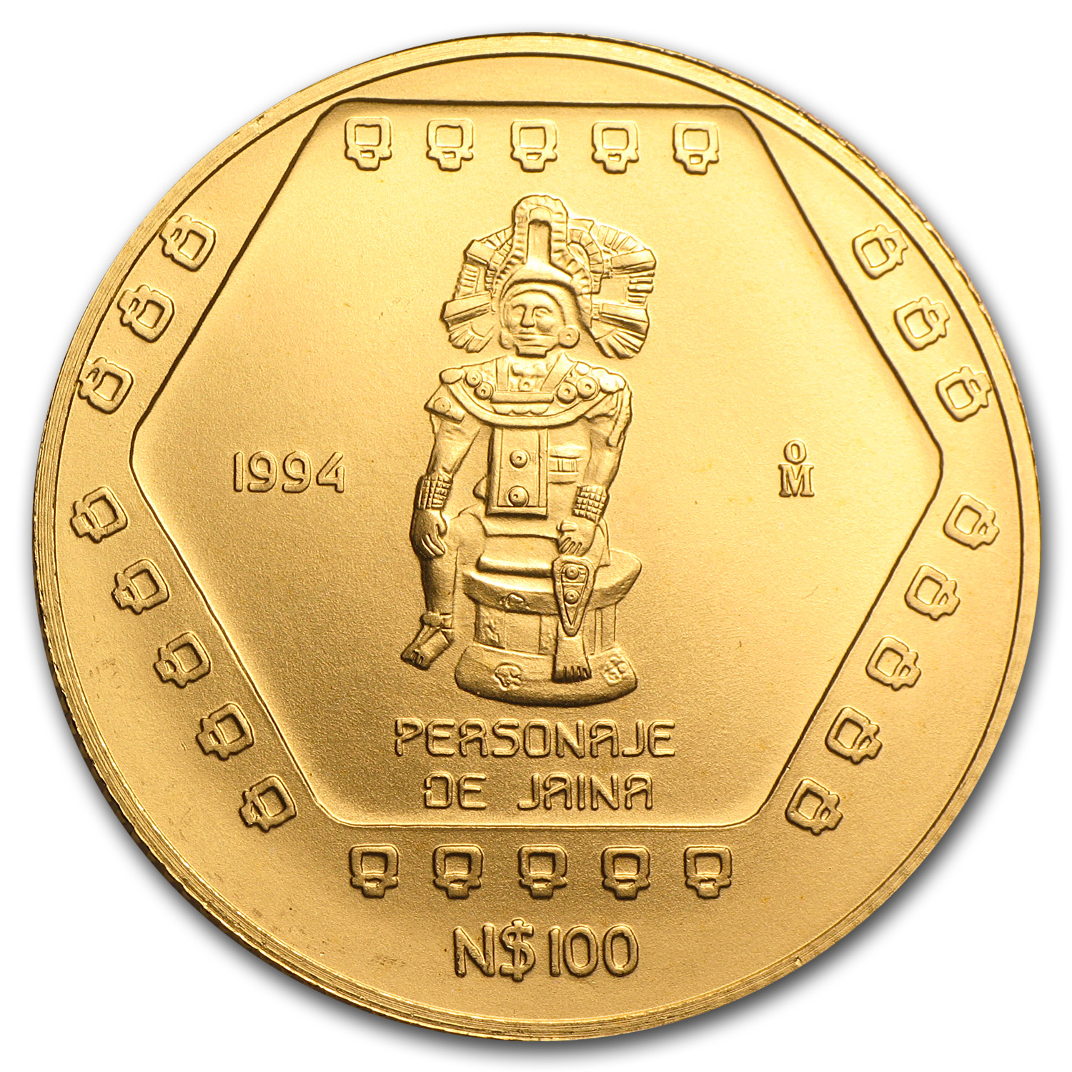 1994 Mexico 100 Pesos Personaje De Jaina Brilliant Uncirculated