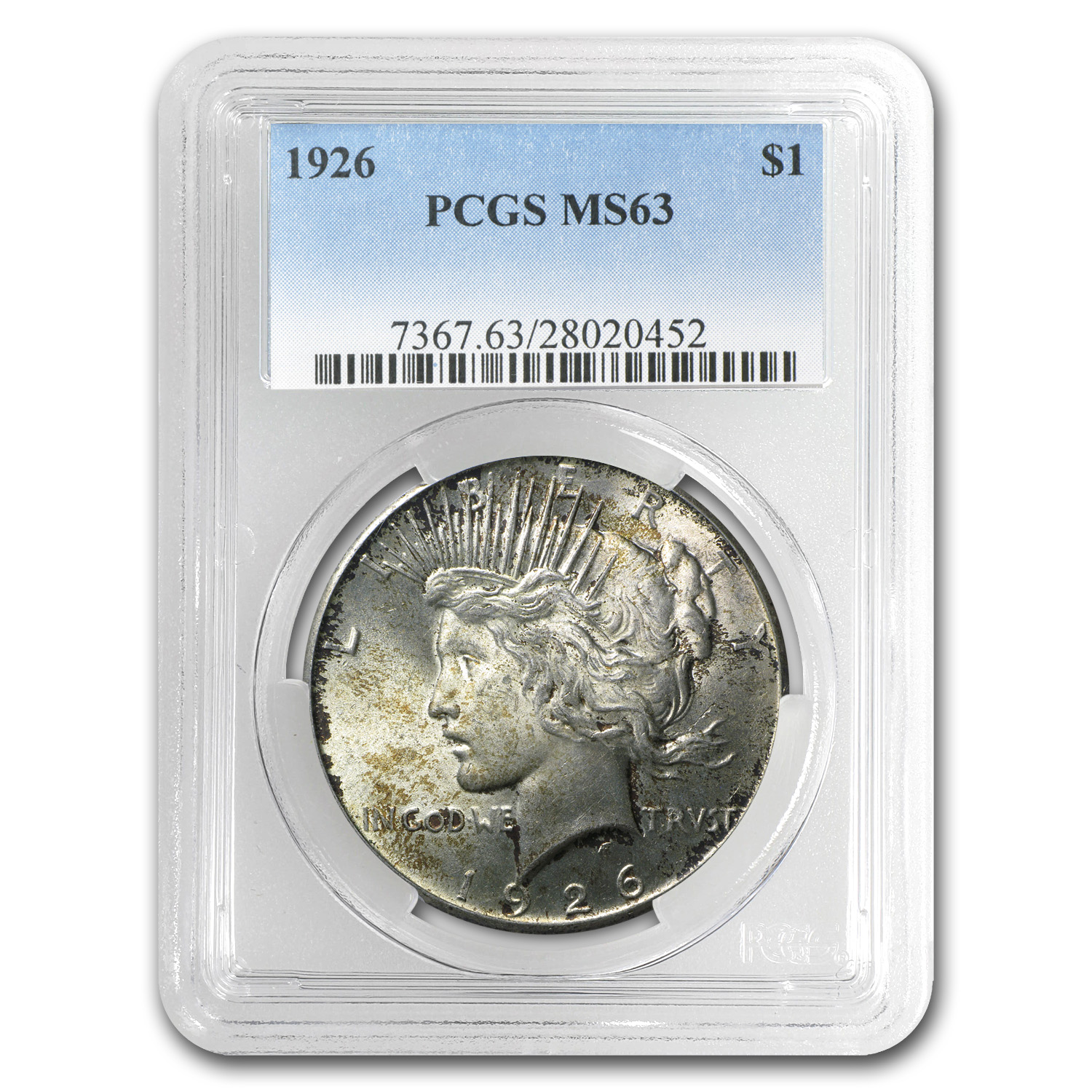 1926 Peace Dollar MS-63 PCGS (Toned)