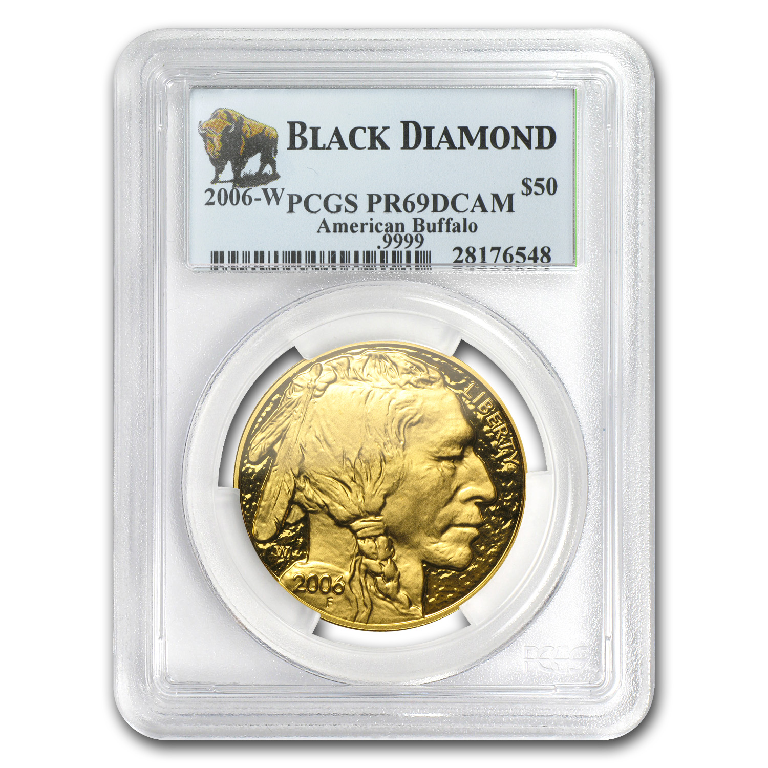 2006-W 1 oz Proof Gold Buffalo PR-69 DCAM PCGS (Black Diamond)