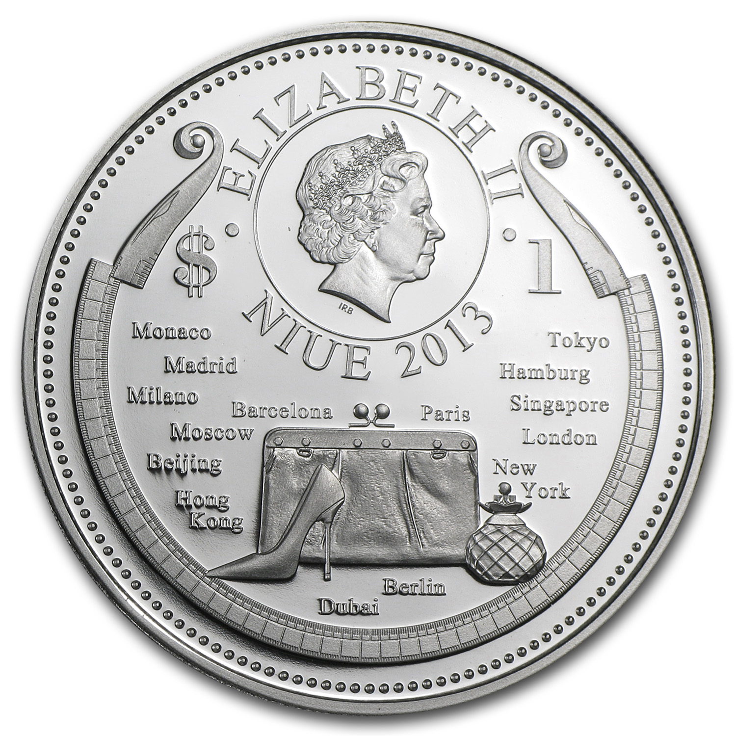2013 Niue Proof $1 Fashion World Wedding
