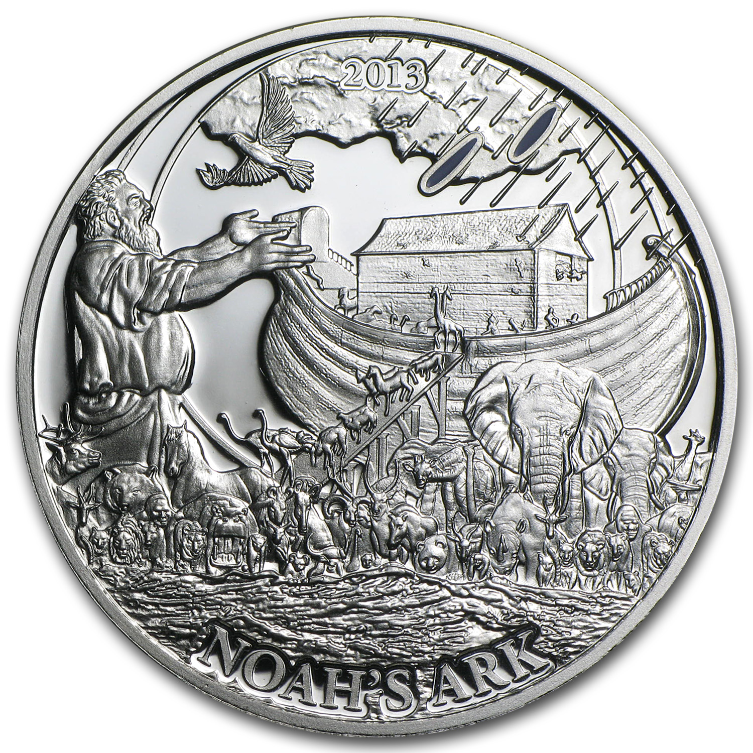 2013 Palau Proof Silver $2 Biblical Stories Noah's Ark