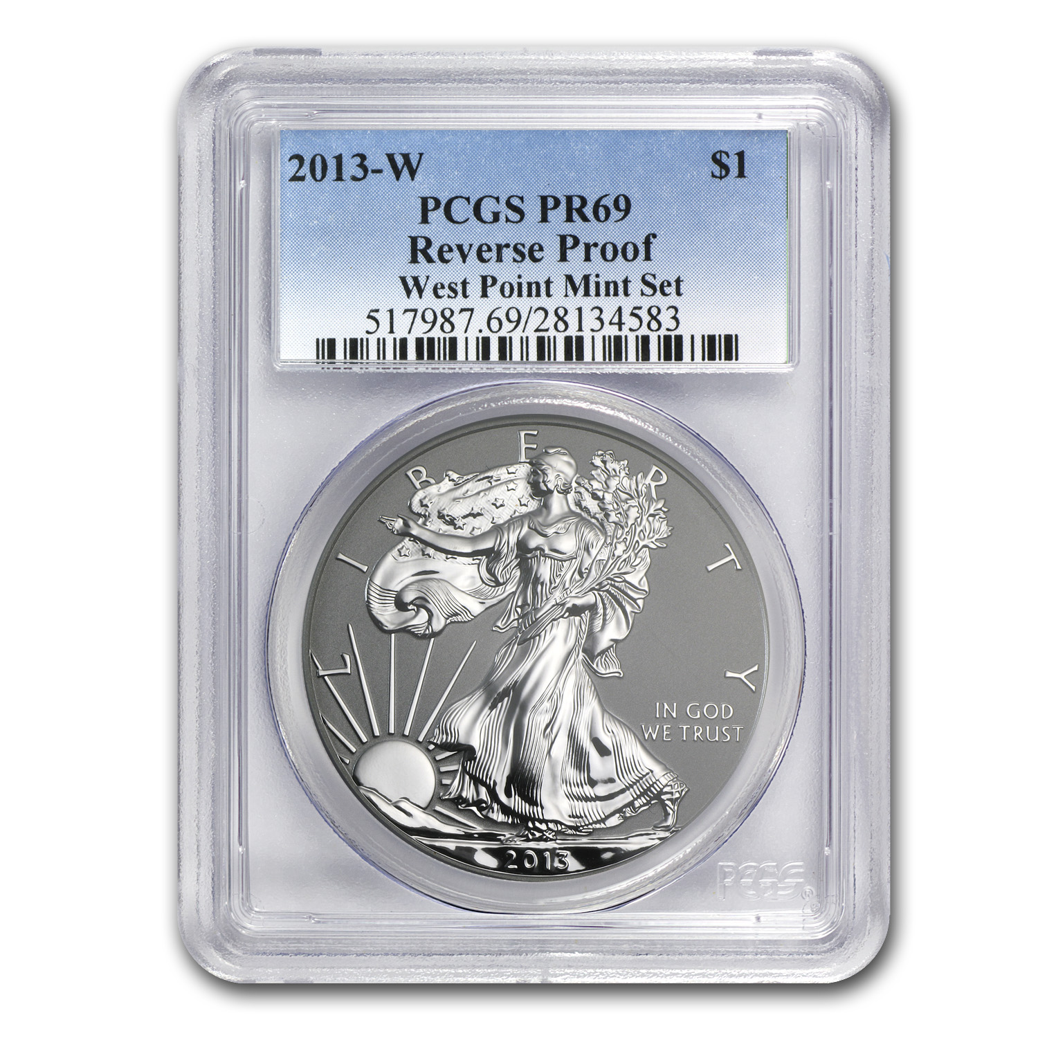 2013-W (Reverse Proof) Silver Eagle PCGS PR-69