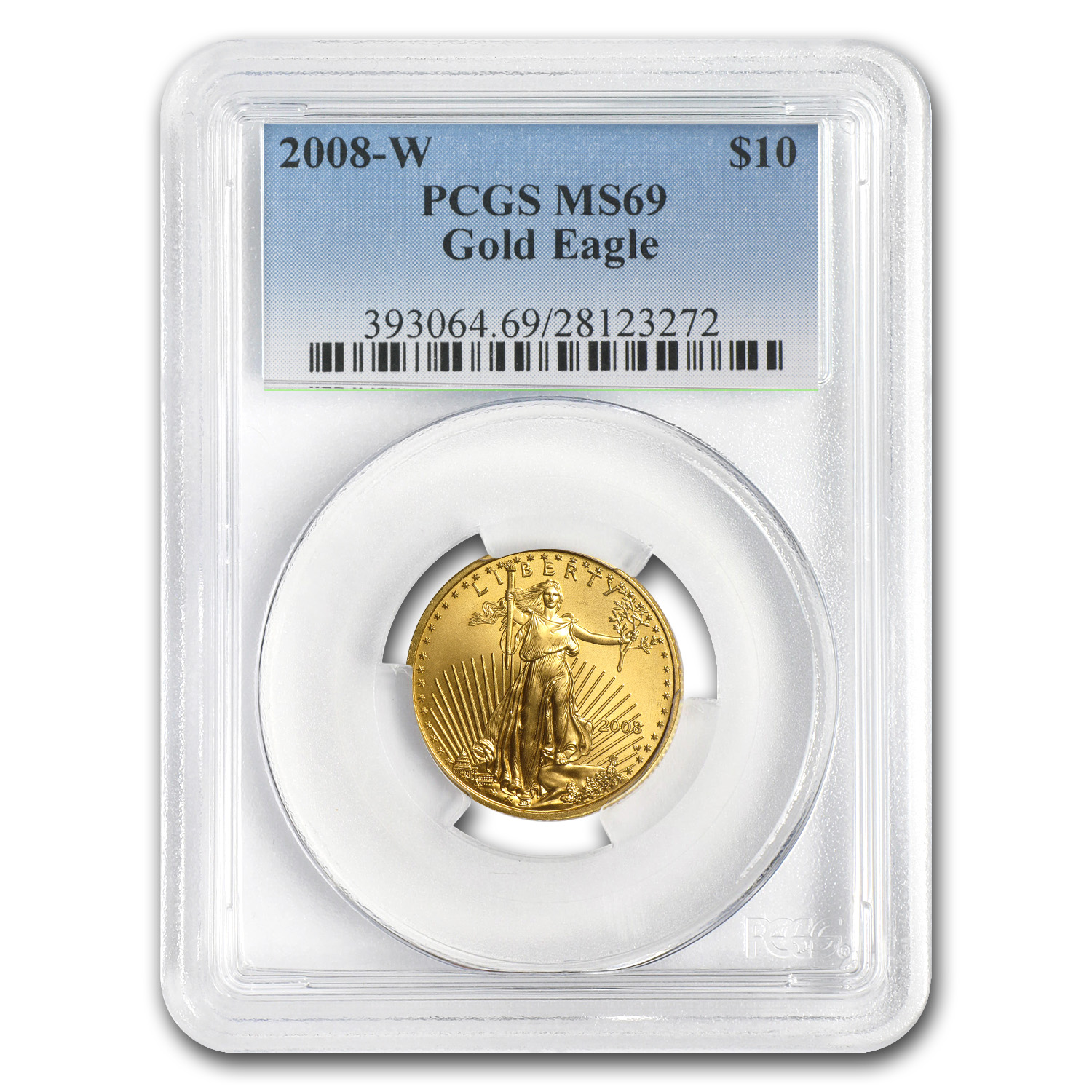 2008-W 1/4 oz Burnished Gold American Eagle MS-69 PCGS