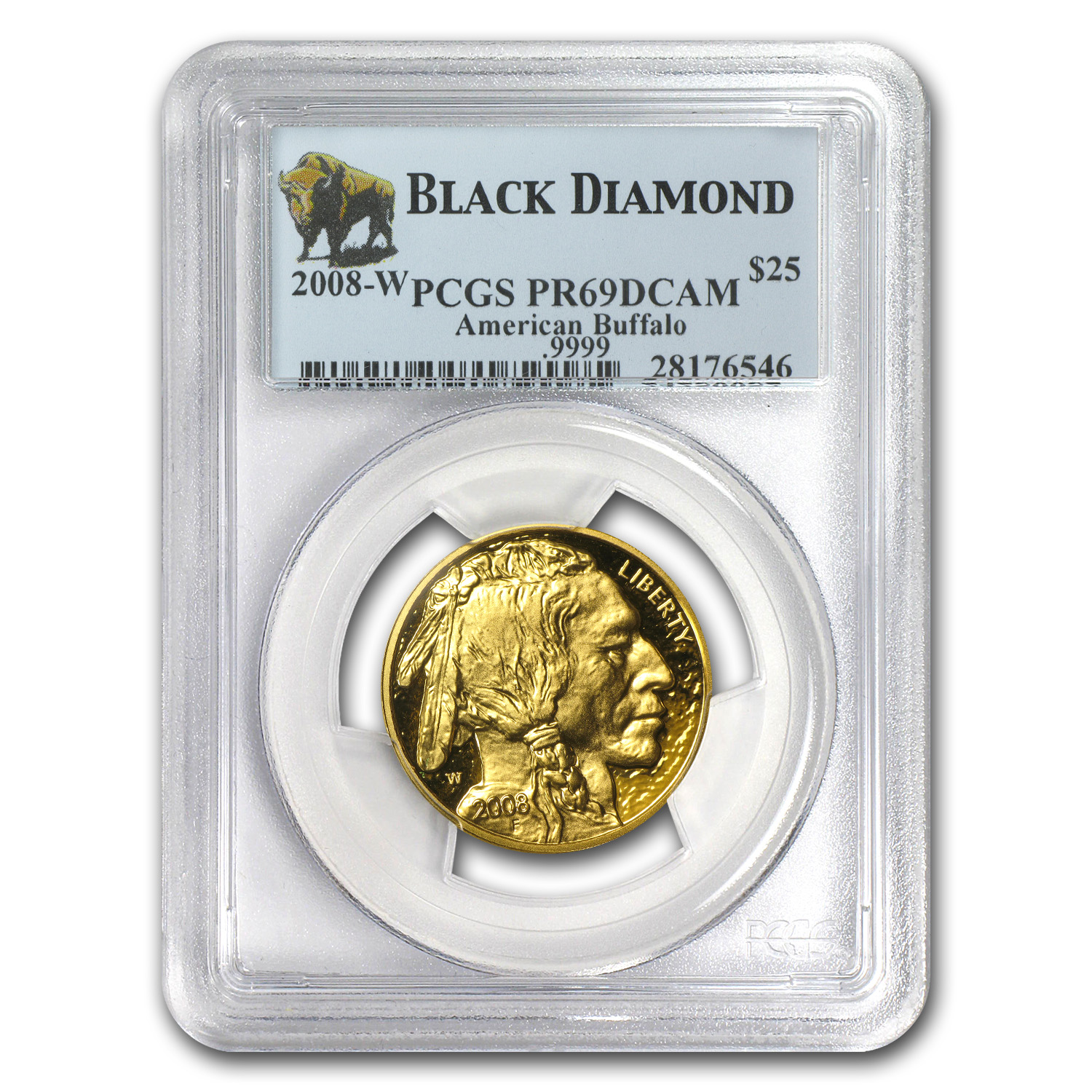 2008-W 1/2 oz Proof Gold Buffalo PR-69 PCGS (Black Diamond)