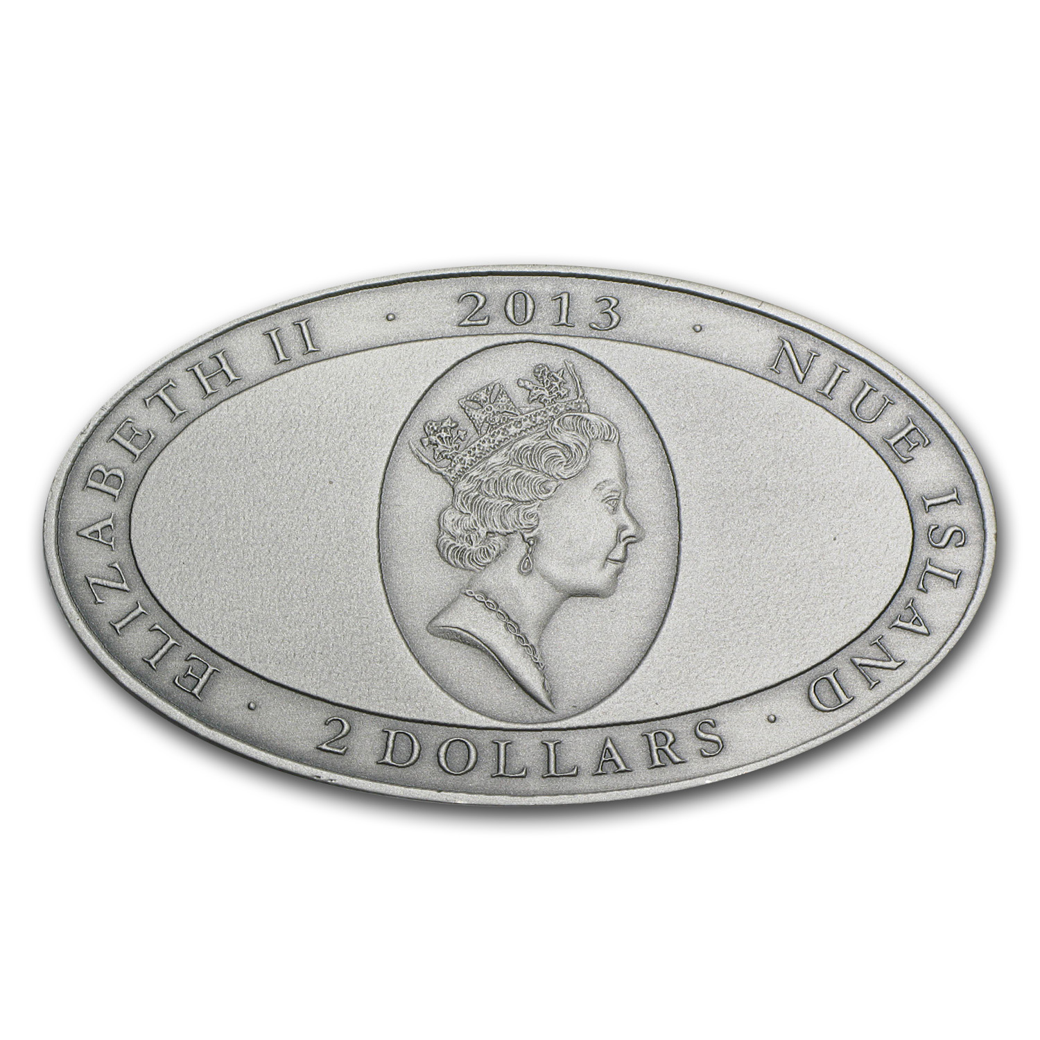 Niue 2013 1 oz Silver $2 XL Ultra High Relief Croceye