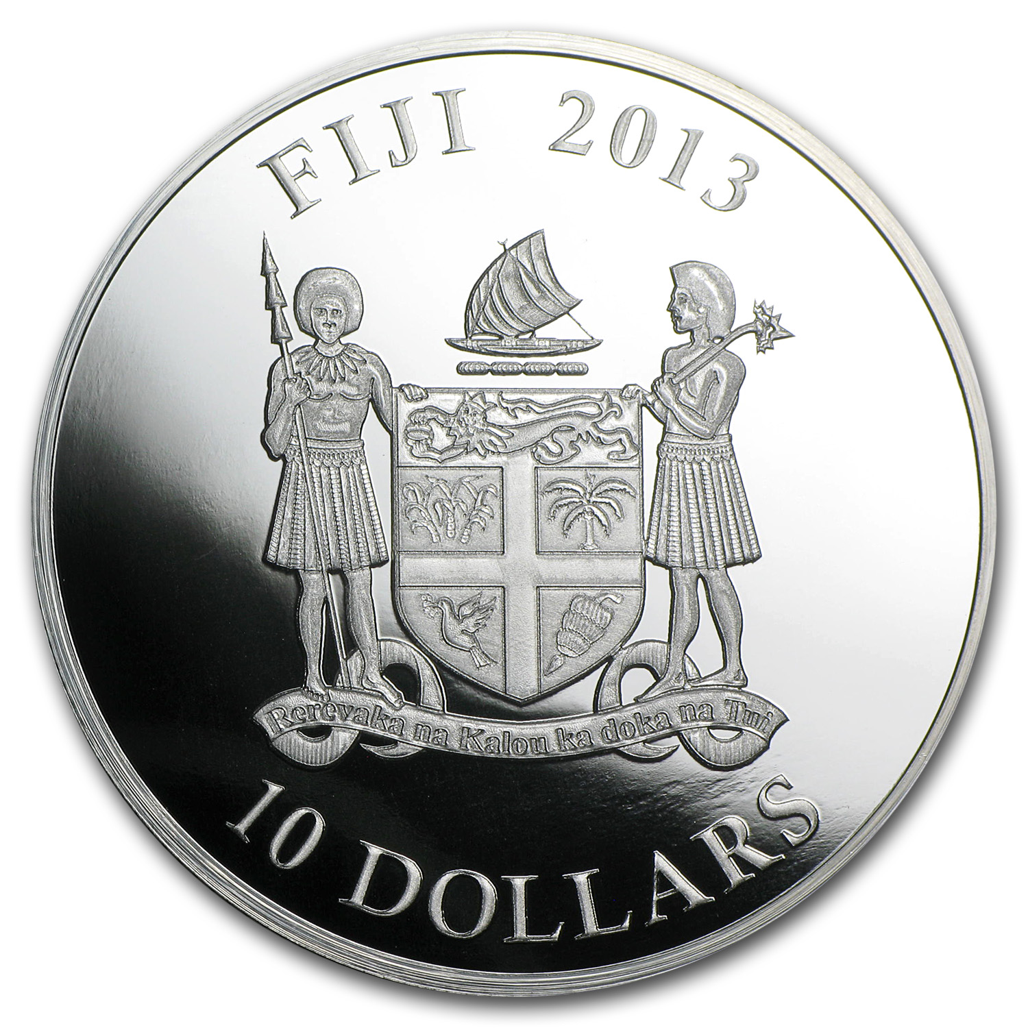 2013 Fiji Silver $10 Year of the Snake Gilson Opal Snake