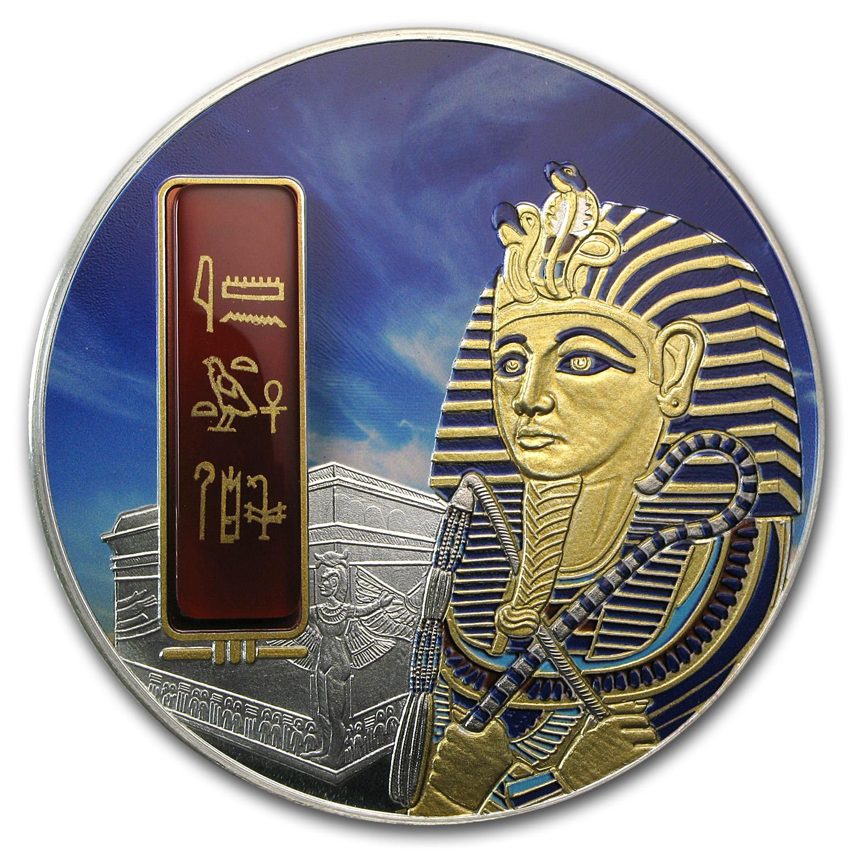 2012 Fiji 2 Oz Proof Silver 50 Egyptian Jewels