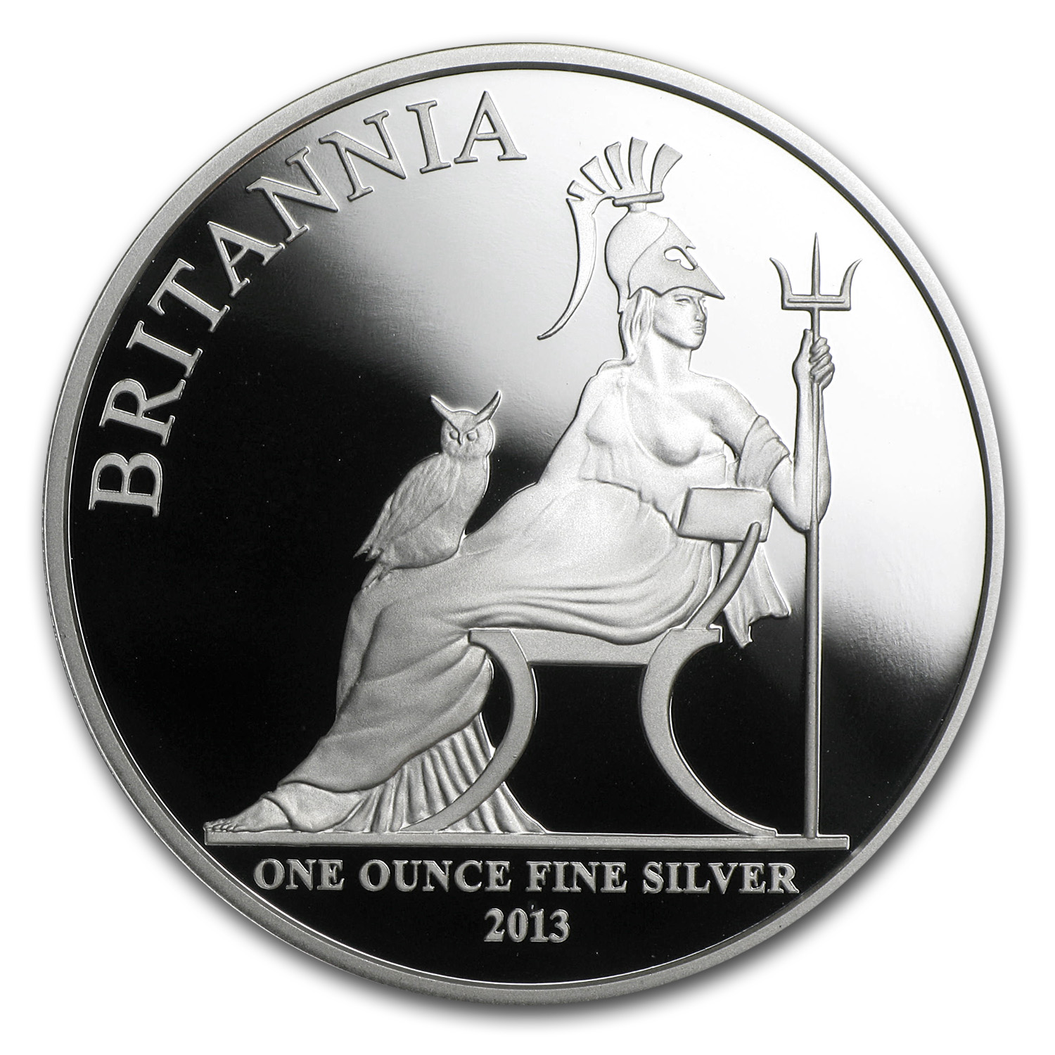 2013 1 oz Silver Britannia Proof (w/Box & COA)