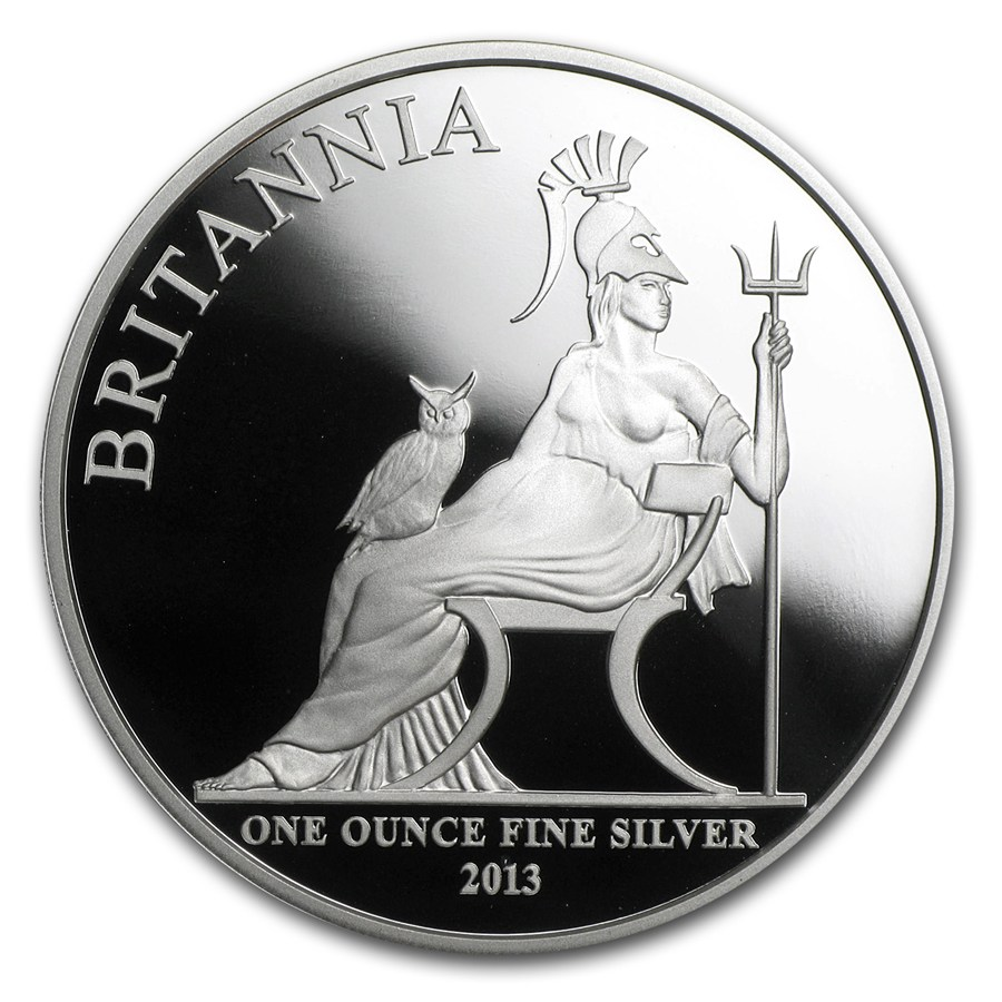 2013 Great Britain 1 Oz Silver Britannia Proof W Box