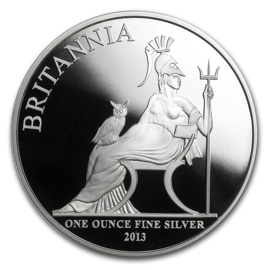 2013 Great Britain 1 Oz Silver Britannia Proof W Box