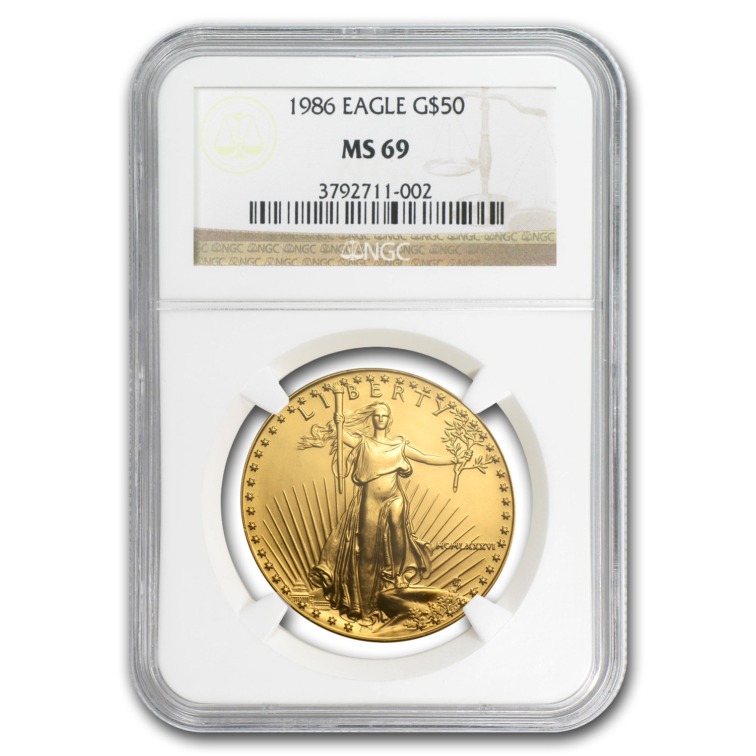 1986-2010 1 oz Gold Eagle Complete 25 Coin Collection NGC MS-69