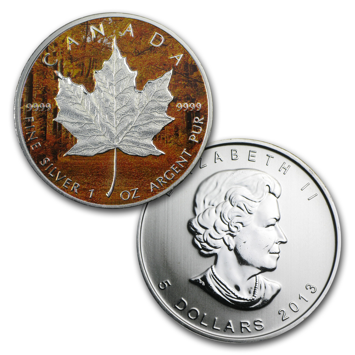 2013 Silver Canadian Maple Leaf 4-Coin Set- Four Seasons