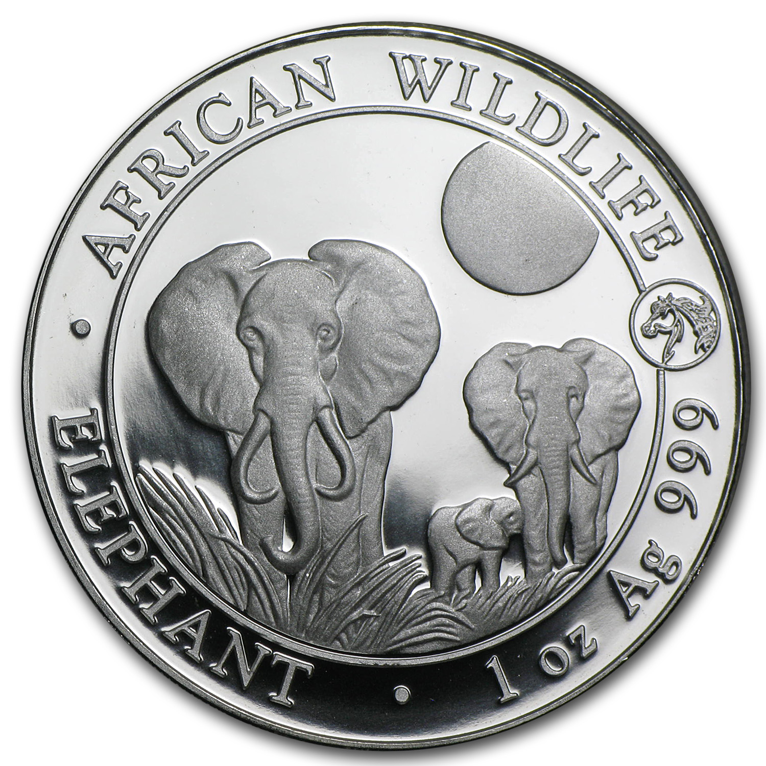2014 1 oz Silver Somalian Elephants (Horse Privy)
