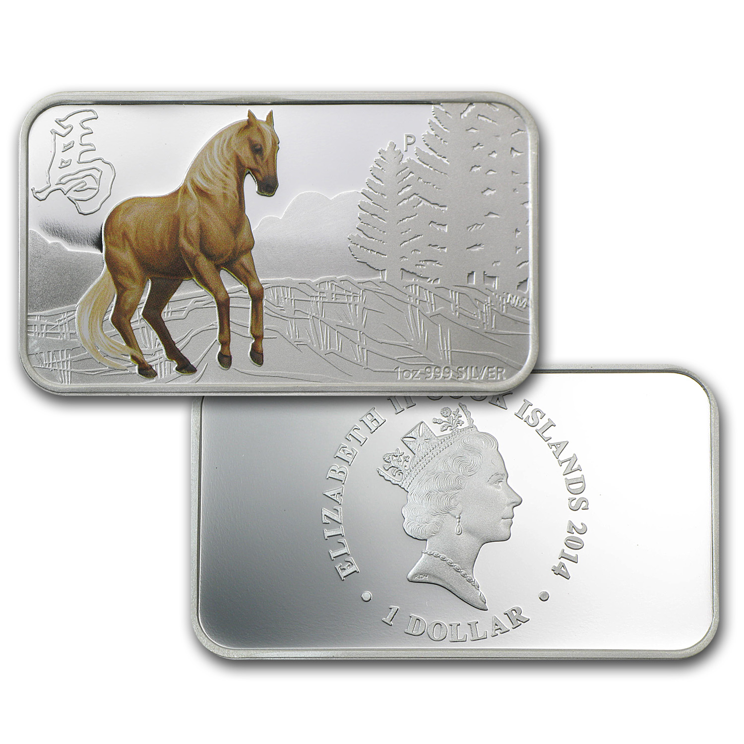 2014 Australia 4-Coin 1 oz Silver Horse Proof Set (Rectangles)