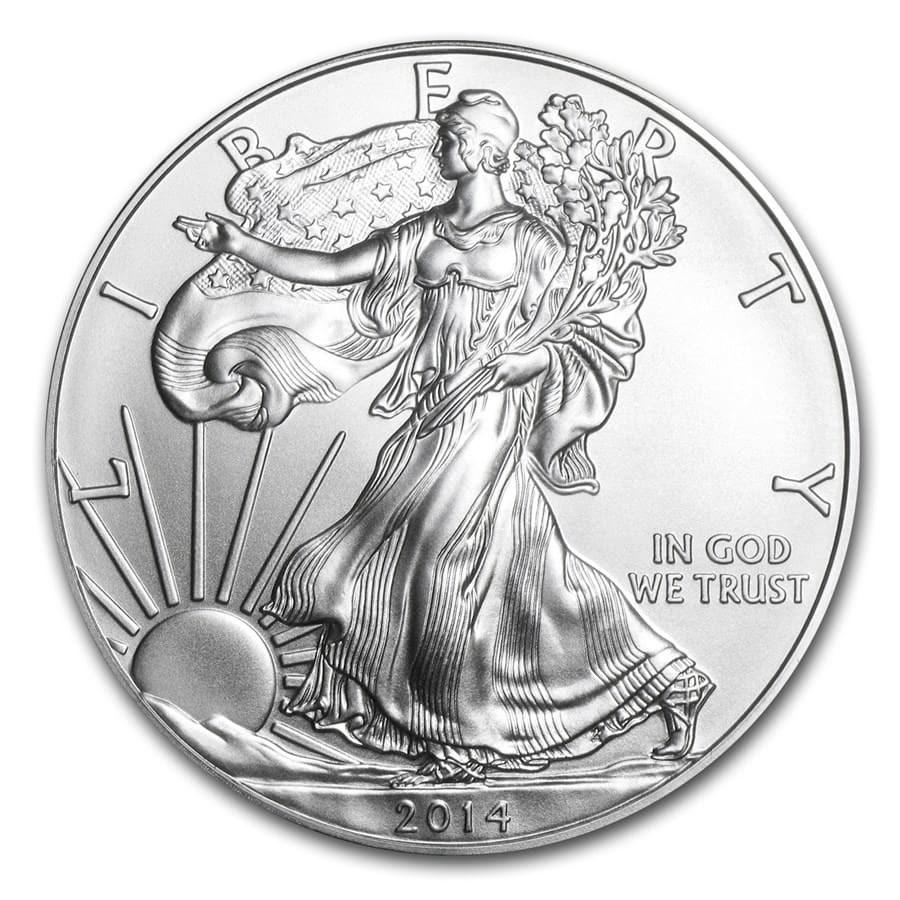 2014 1 Oz Silver American Eagle Coins Bu 2014 Us Silver