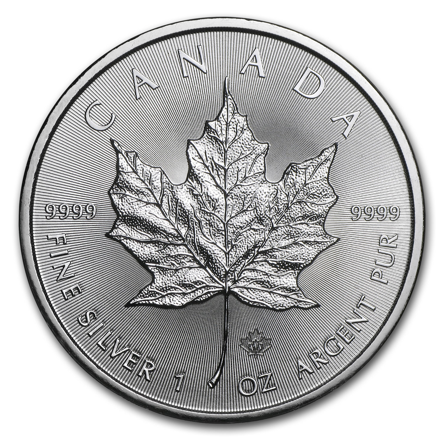 2014 1 oz Silver Canadian Maple Leaf BU