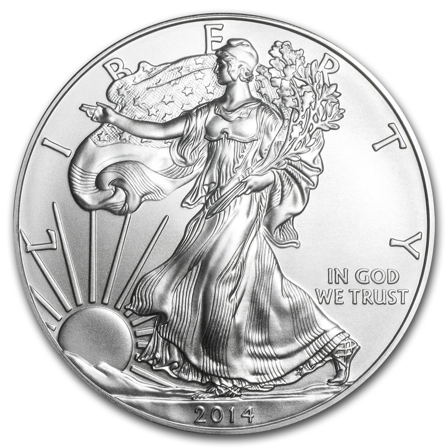 2014 1 oz Silver American Eagles (20-Coin MintDirect® Tube)